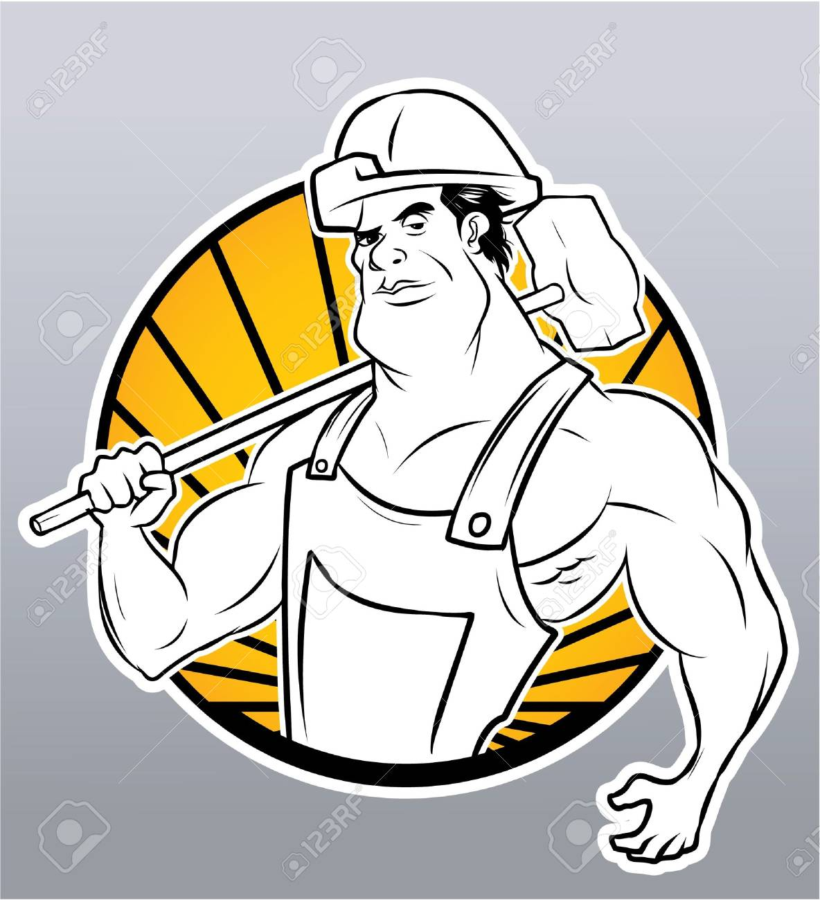 strong worker Stock Vector - 18398106