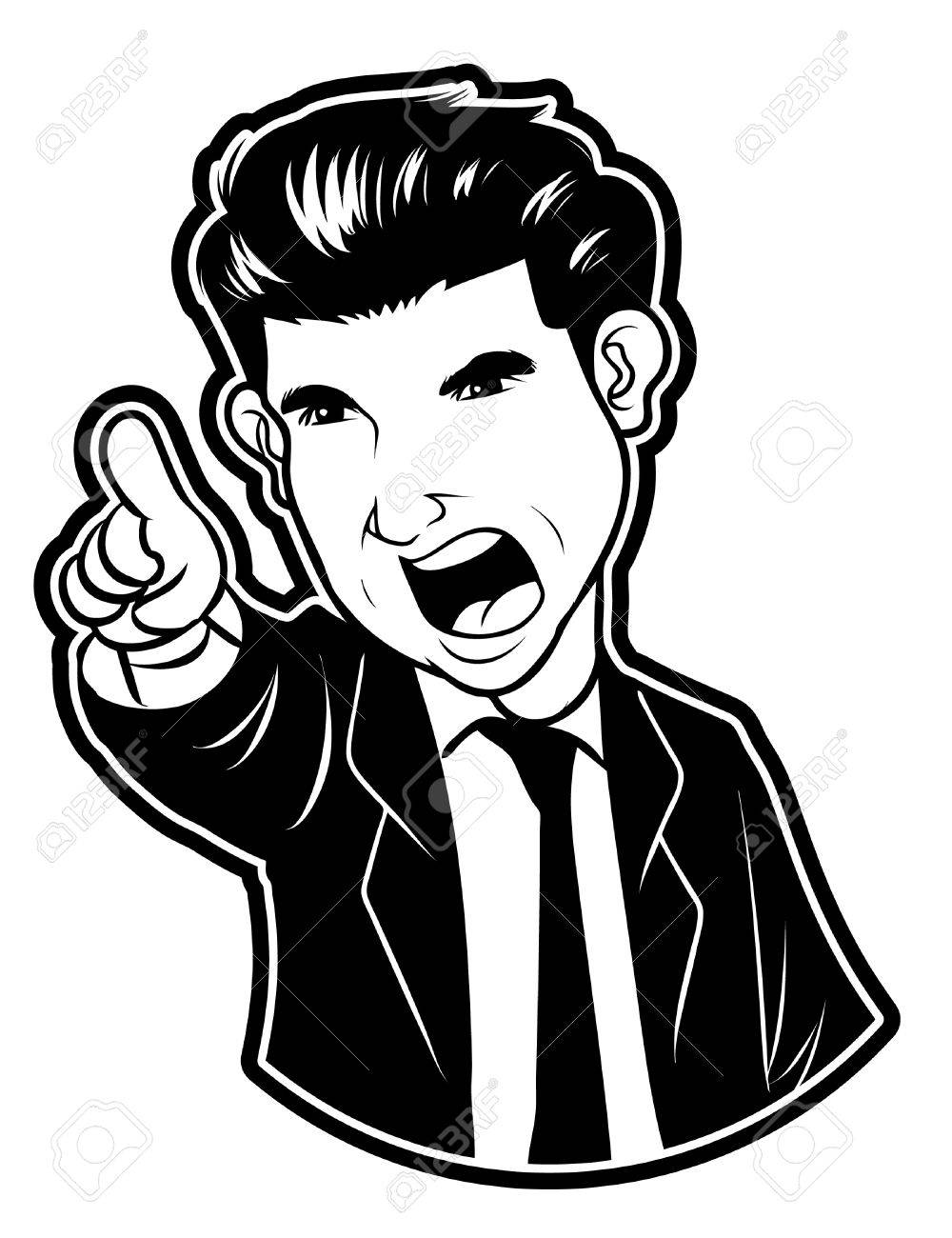 angry Businessman Stock Vector - 18855019
