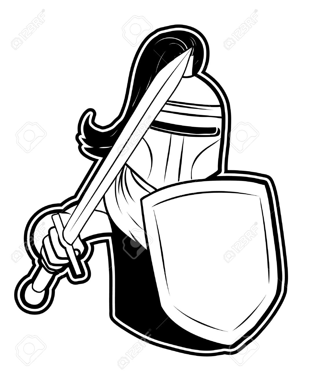 black and white clipart knight royalty free cliparts vectors and rh 123rf com  knights clip art free