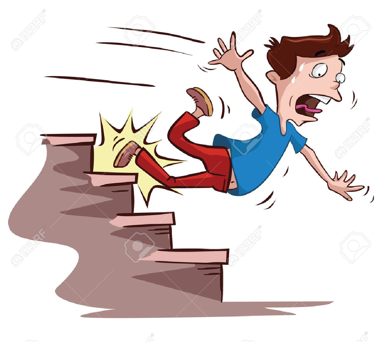 men slipped on the stairs - 39279423