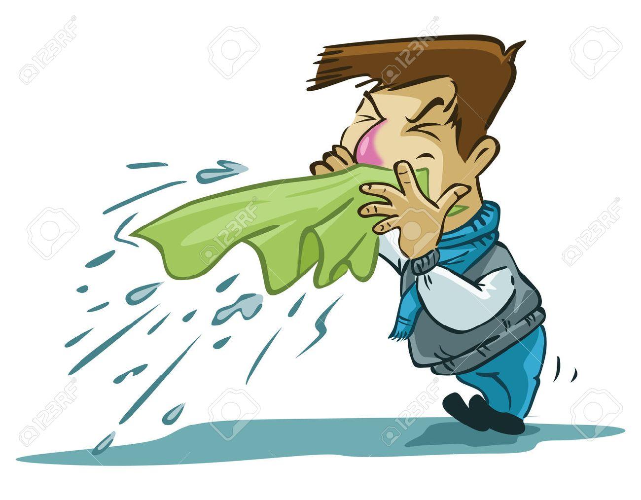 sneezes man - 39279426