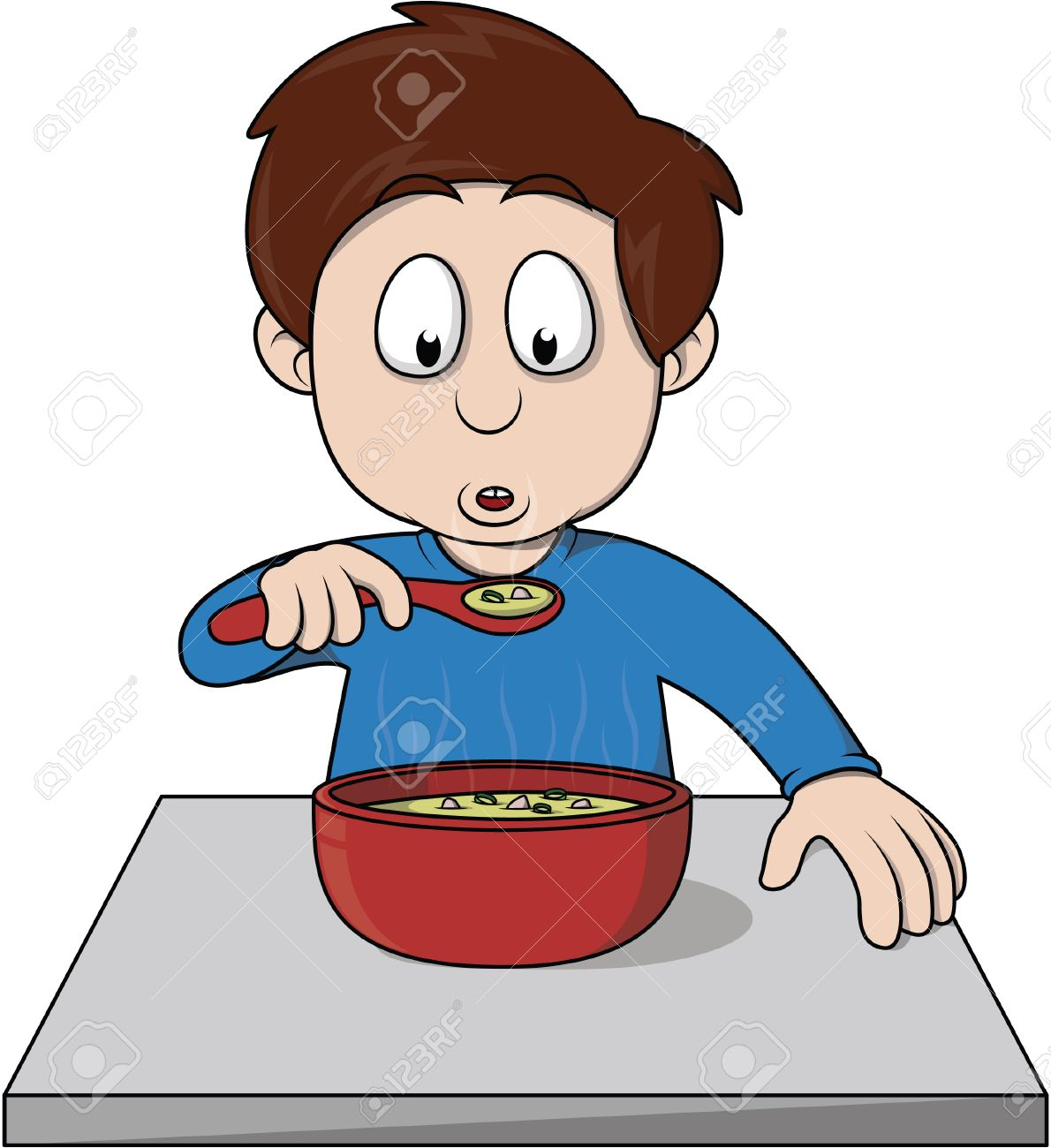Niño Comer Sopa