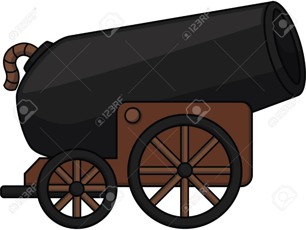 cannon ball cartoon illustration royalty free cliparts, vectors, and