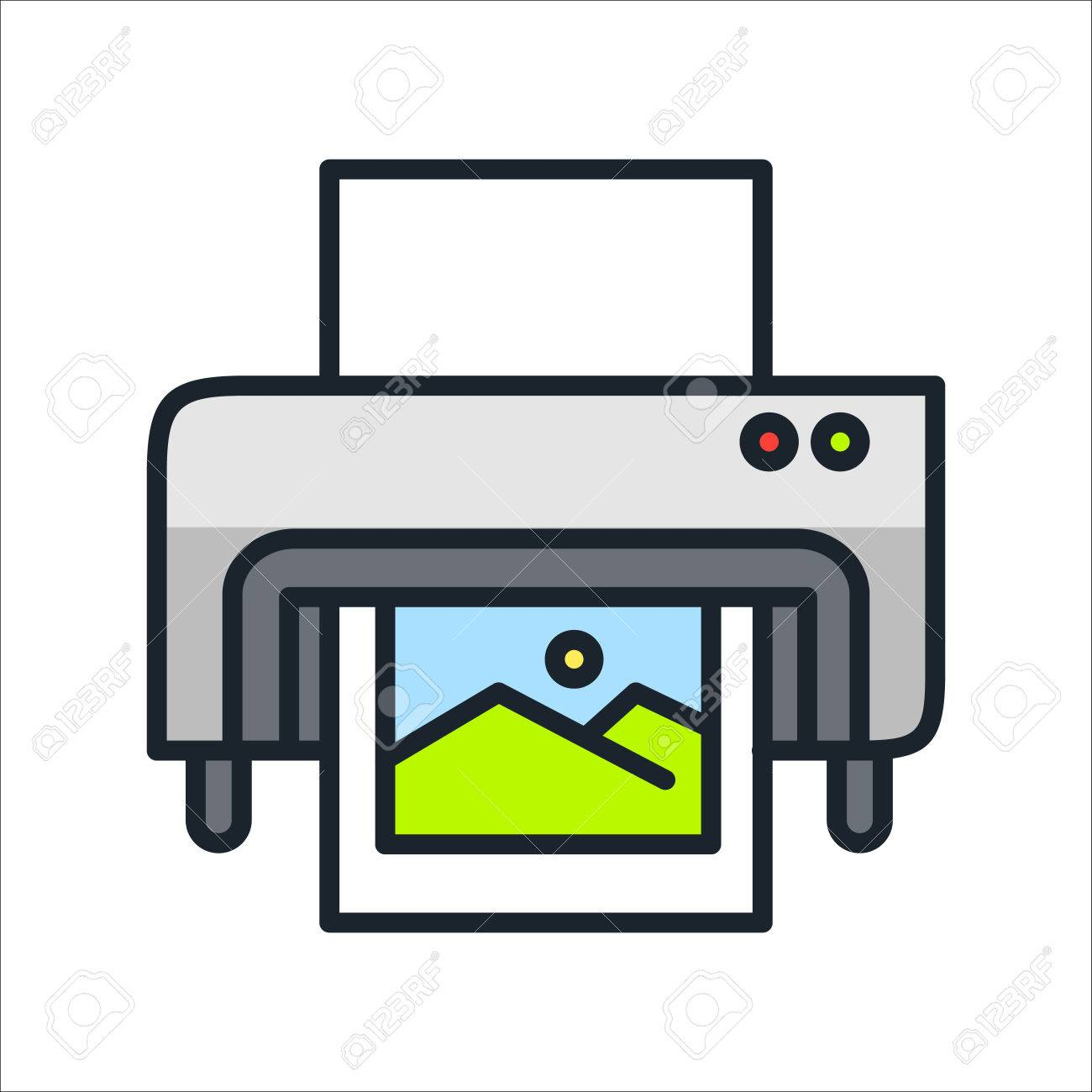 Digital printing icon color stock vector 68564307