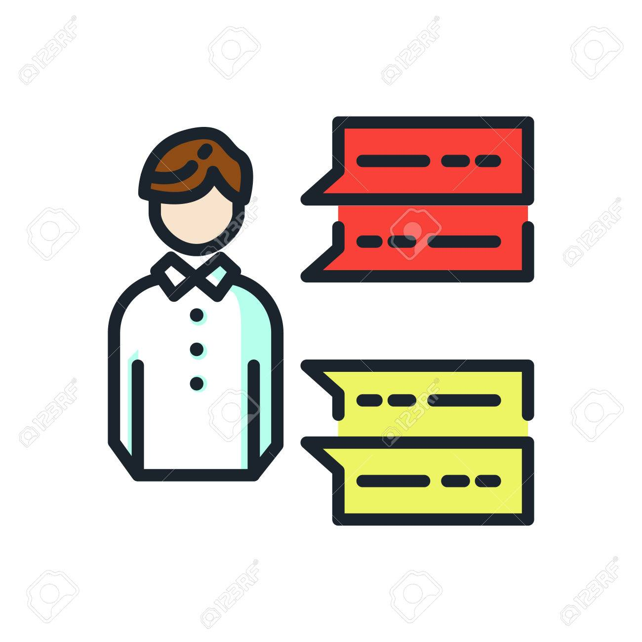 self introduction icon color Stock Vector - 69902054