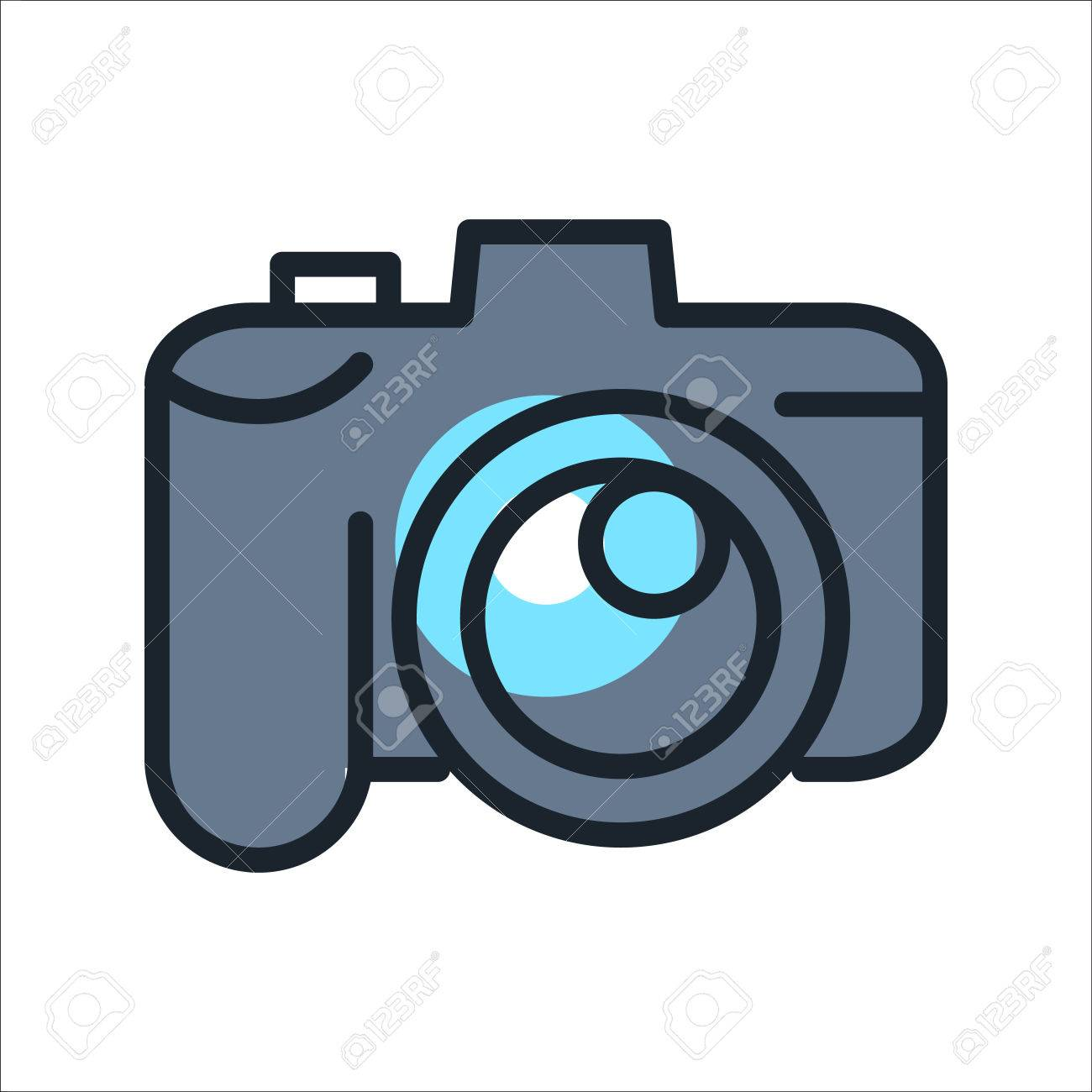 Digital Camera Icon Color Royalty Free Cliparts Vectors And Stock Illustration Image 69905101
