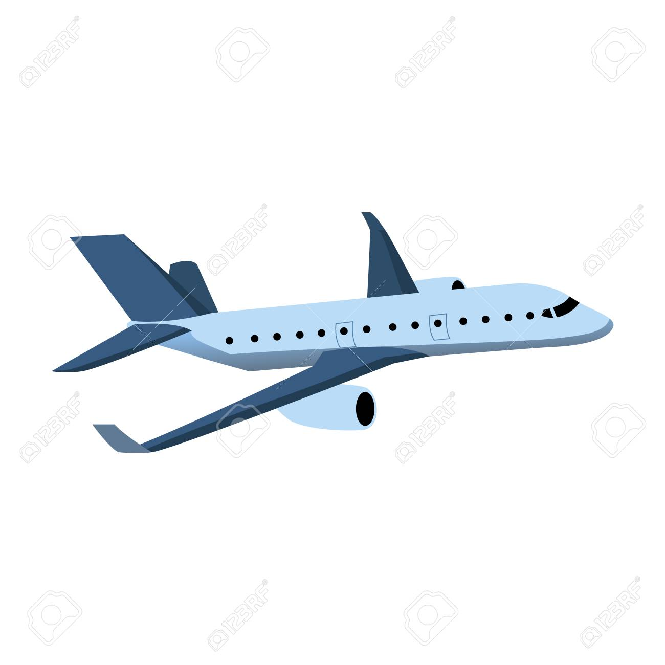 Diseño De Ilustración De Color De Avión Ilustraciones Vectoriales ...