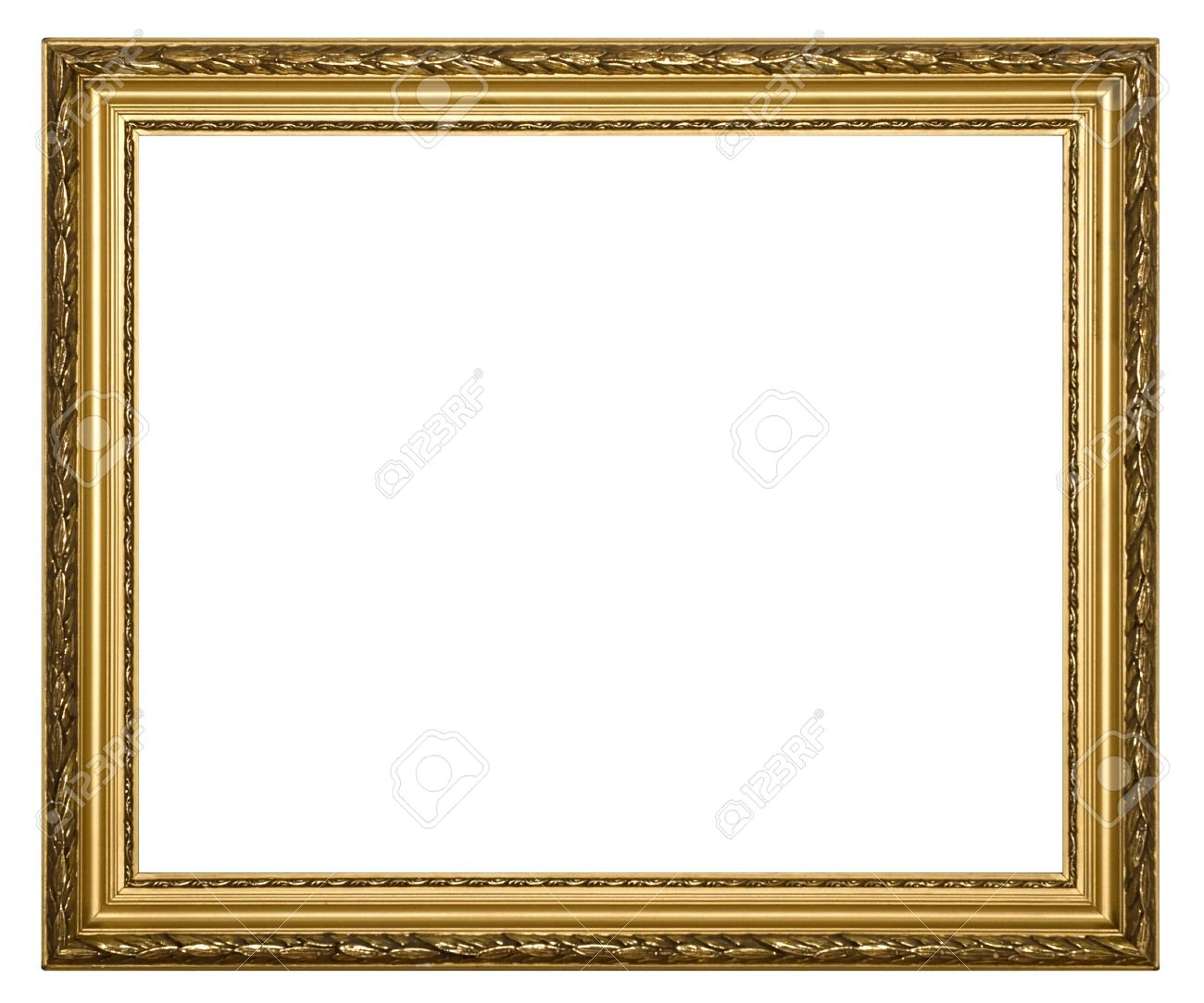Frame For Painting On A White Background. Stock Photo, Picture And ...
