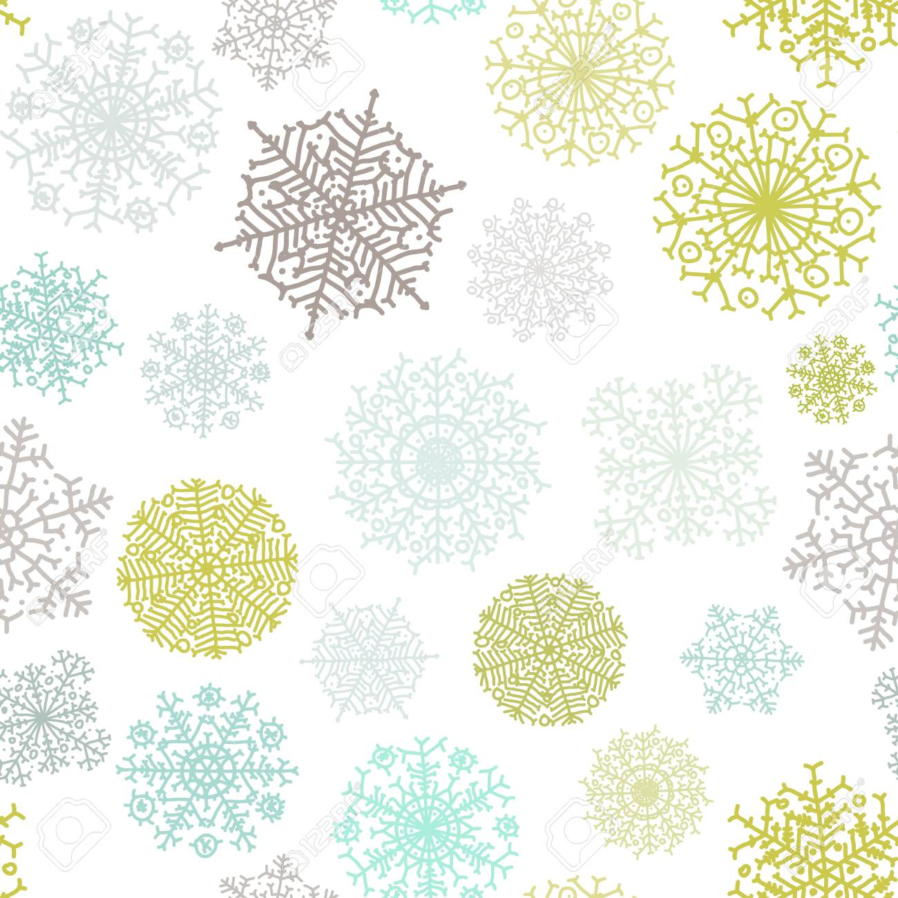 Ornate snowflake seamless background    EPS8 Stock Vector - 17525409