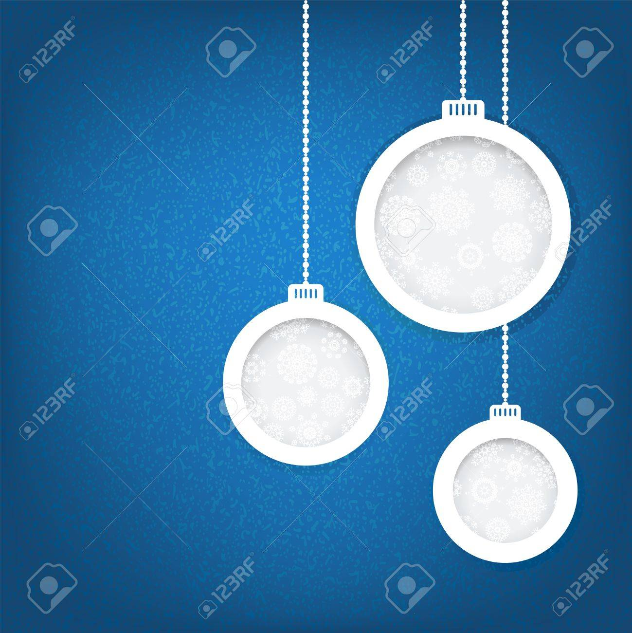 Christmas balls cut from paper concept    EPS8 Stock Photo - 17525412