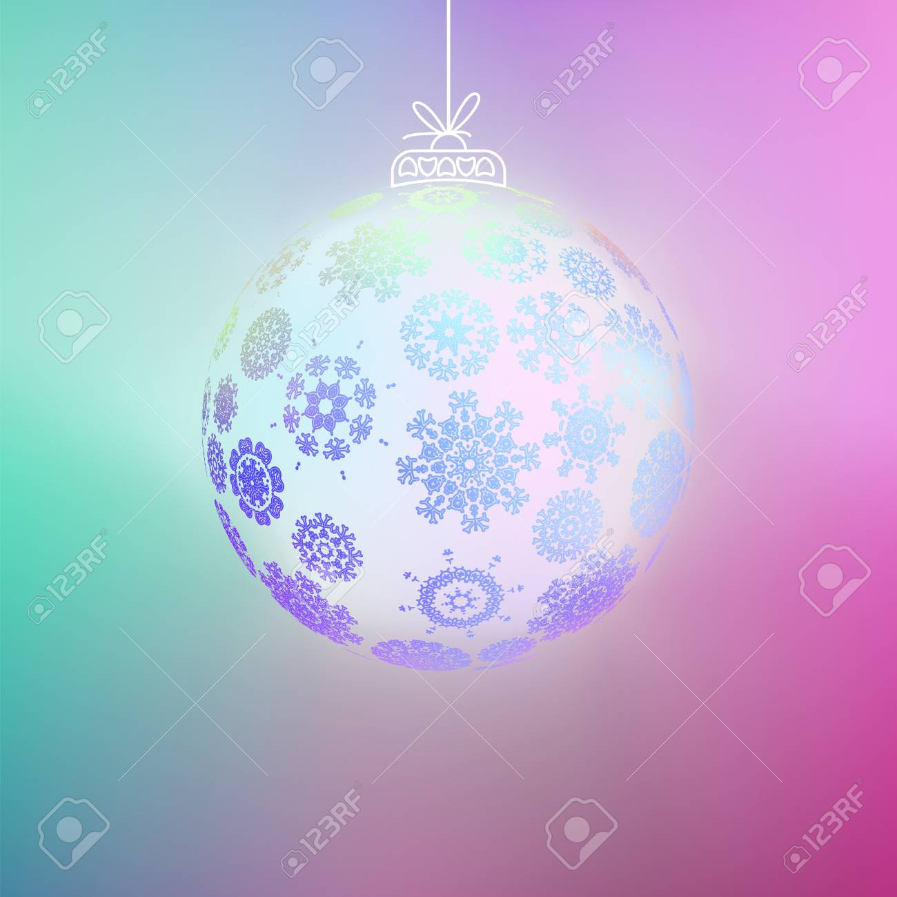 Christmas ball made from snowflakes    EPS8 Stock Vector - 17525457