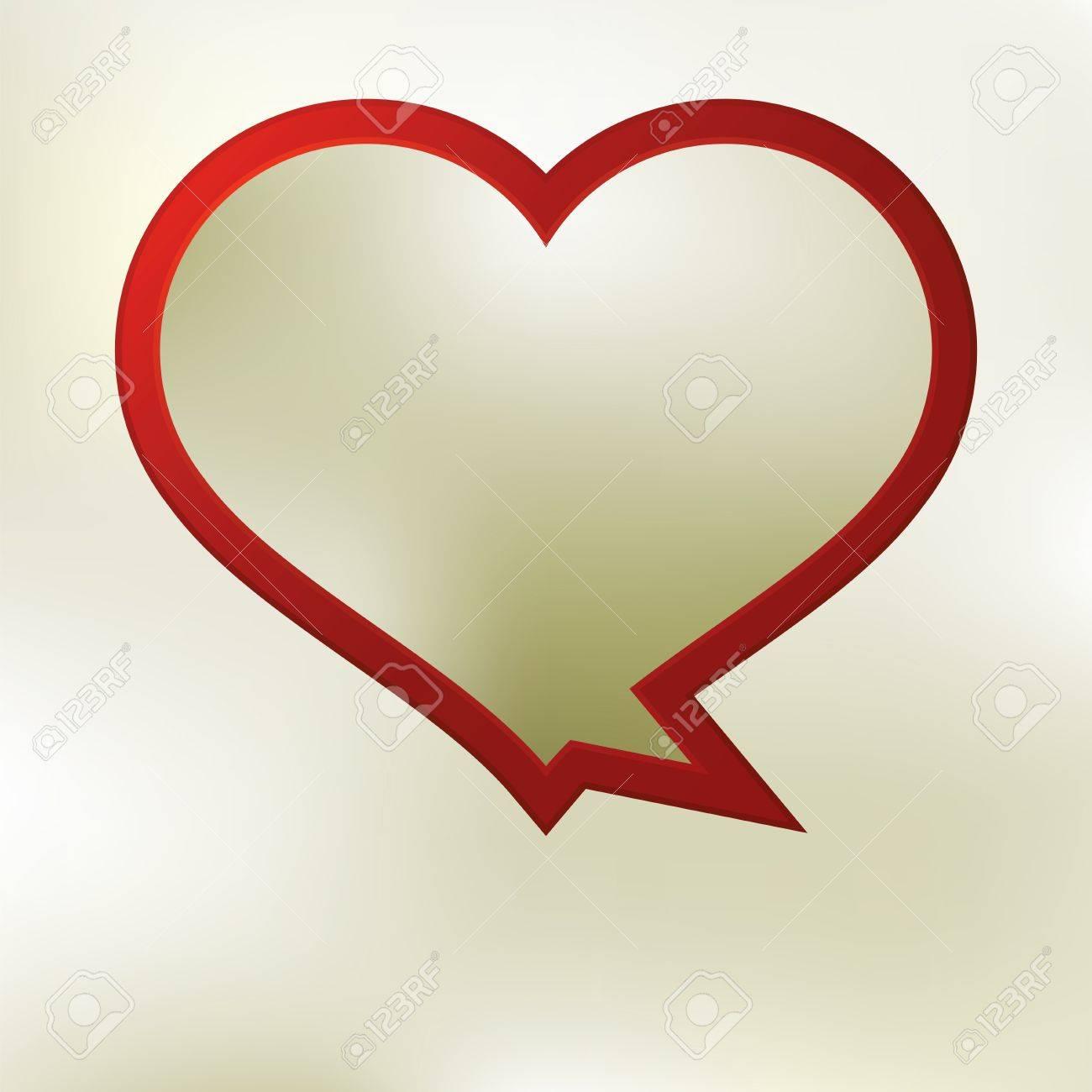 Heart speech bubble template    EPS8 Stock Vector - 17524329