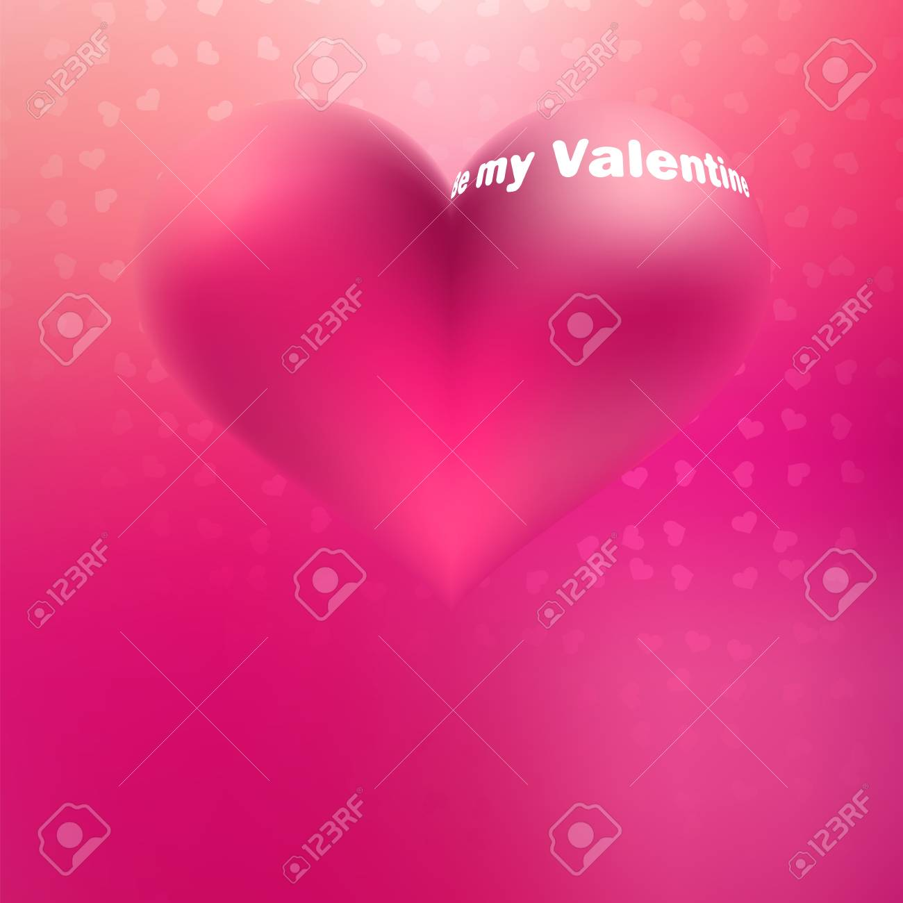 Illustration of beautiful pink glossy heart shape     EPS8 Stock Vector - 17525624