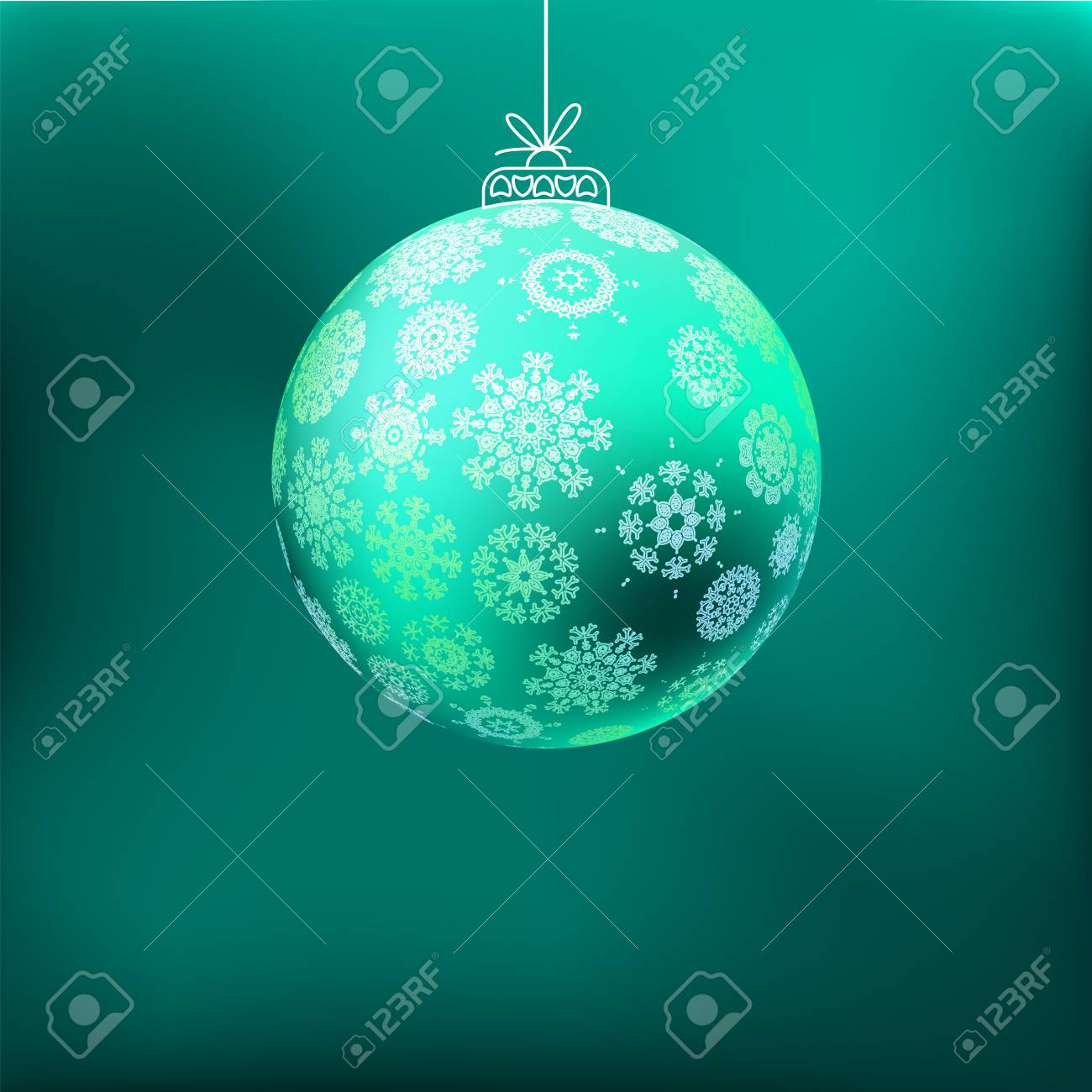 Christmas background with blue ball     EPS8 Stock Vector - 17525755