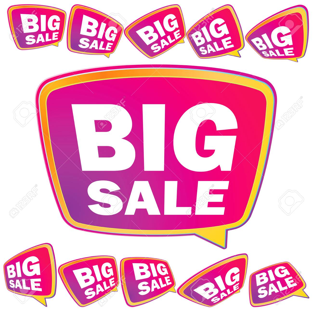 3D big Sale tags     EPS8 Stock Vector - 17525620