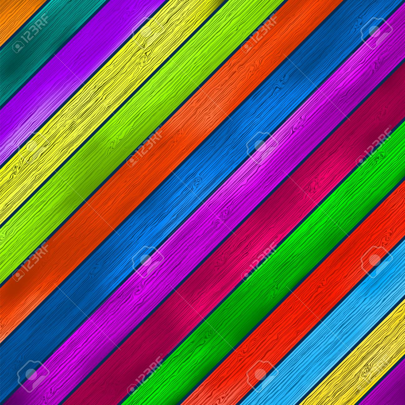 Colorful wooden background     EPS8 Stock Vector - 17525678