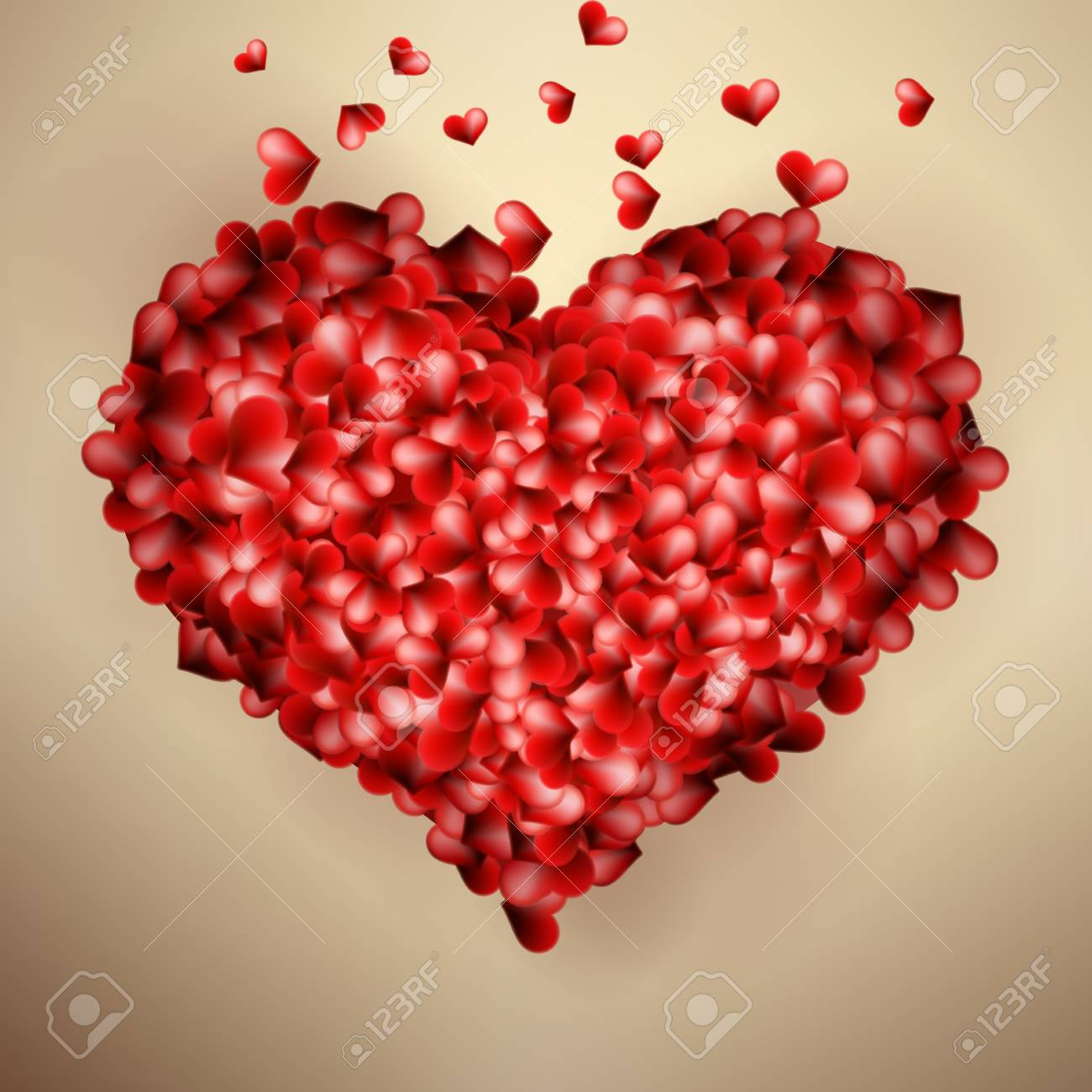 Valentines Heart Template Card. + EPS10 Vector File Royalty Free ...