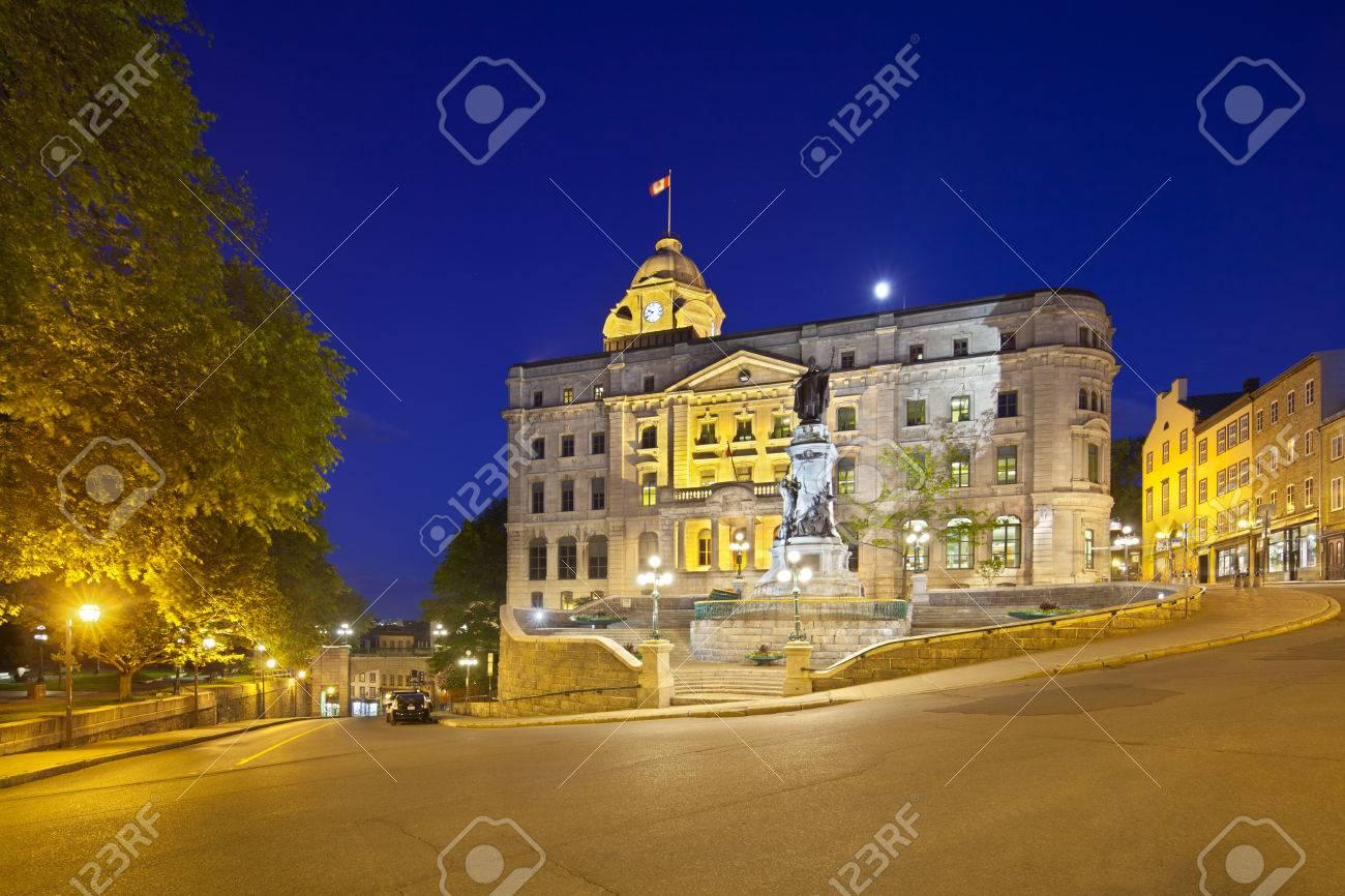 Quebec city june bureau de poste de la haute ville and