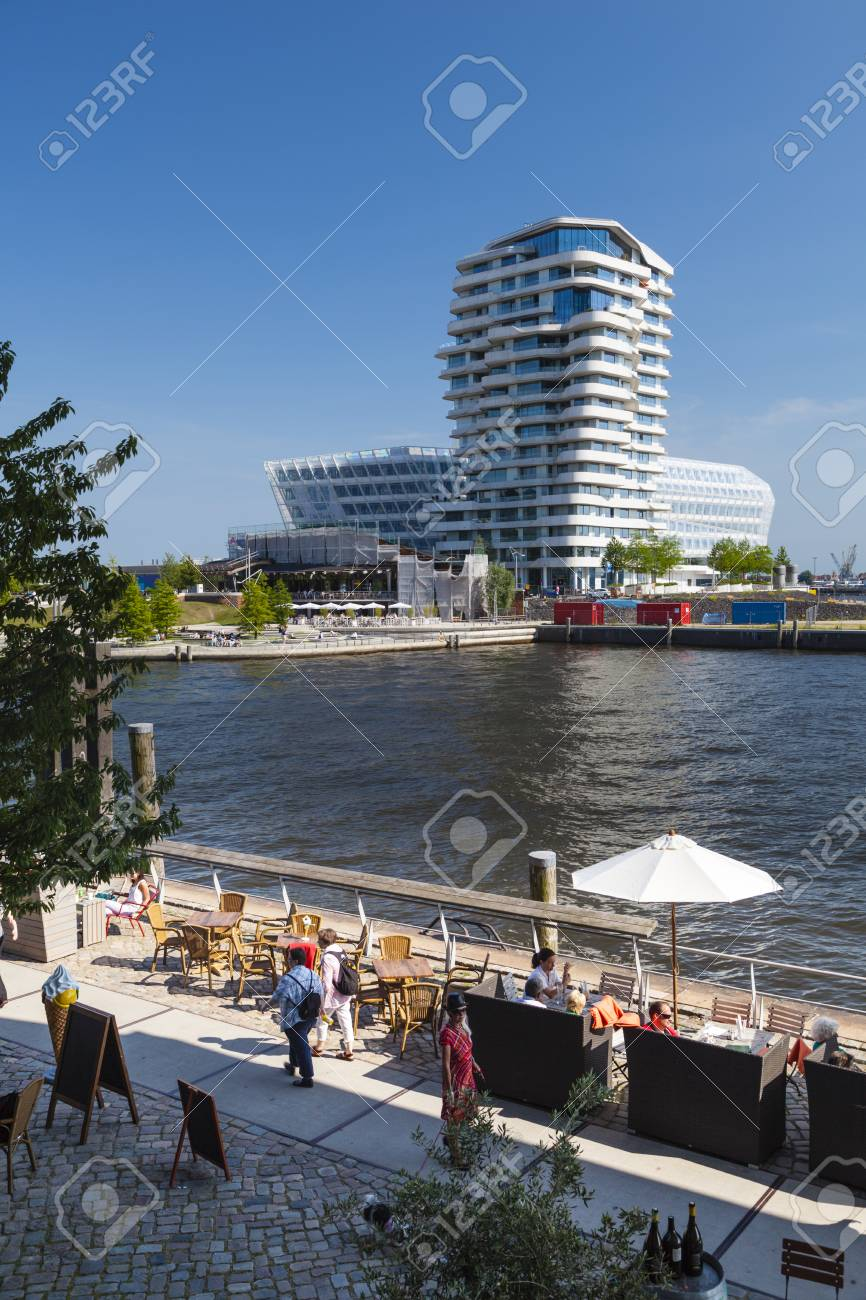 Hamburg, Germany - July 7: The Marco Polo Tower In The Hafencity ...