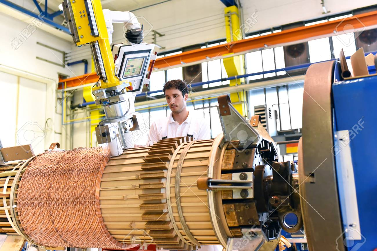 Copper Wire Manufacture Of Transformers In A Factory Stock Photo Wiring Together 99449214