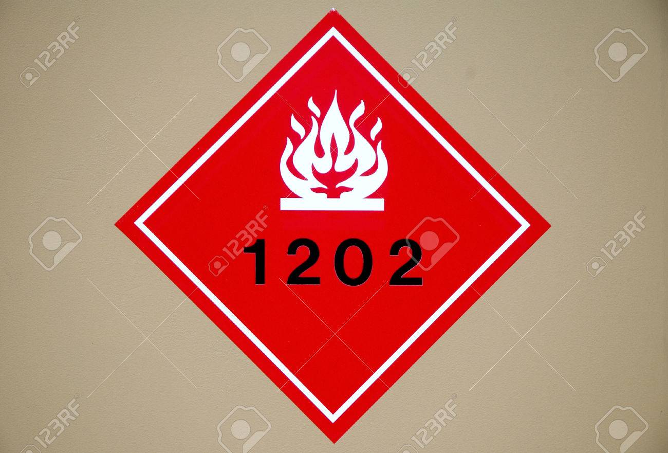 red flammable liquid hazard diamond sign stock photo picture and