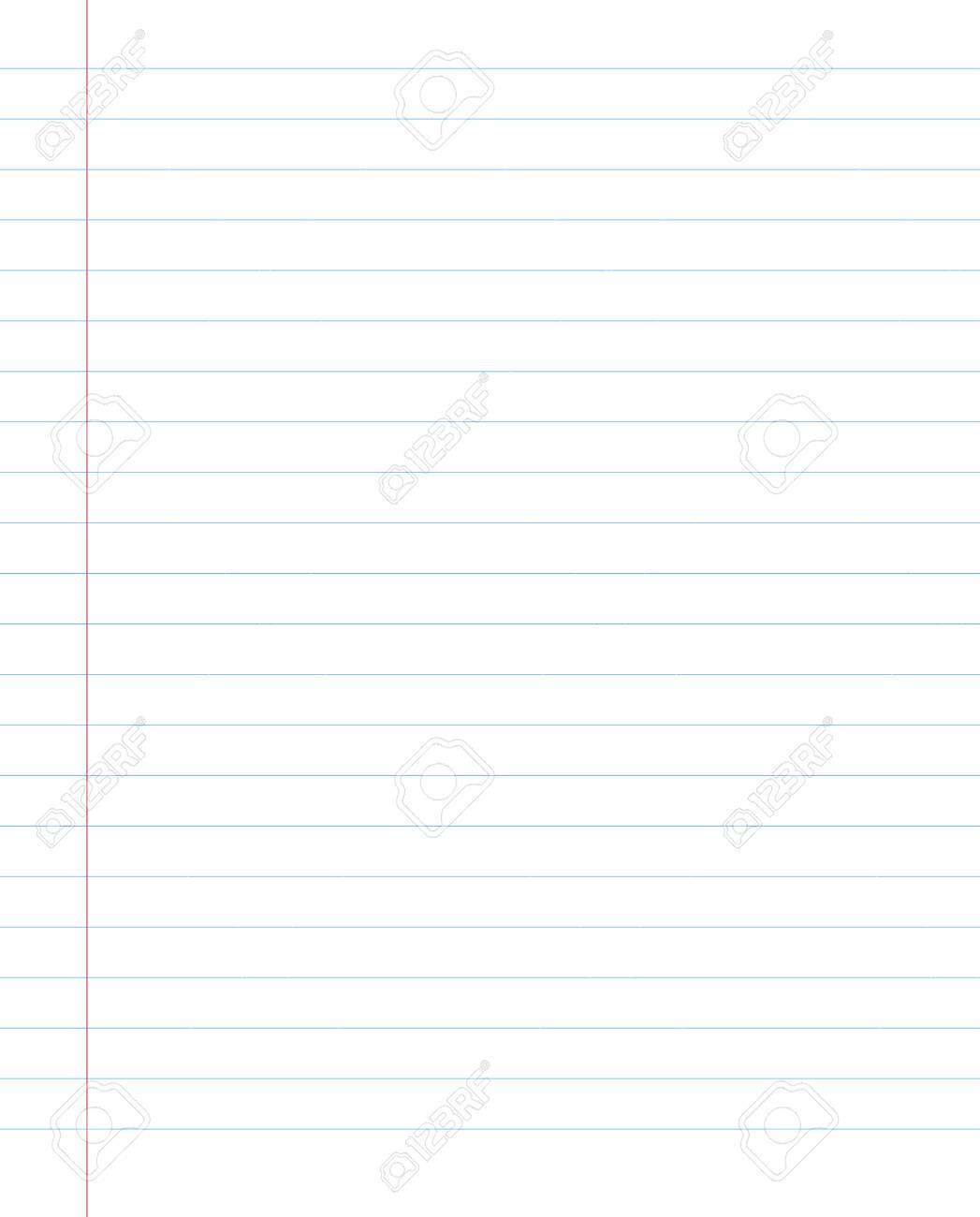 Blank Lined Paper Texture From A Notebook Or Notepad Background ...
