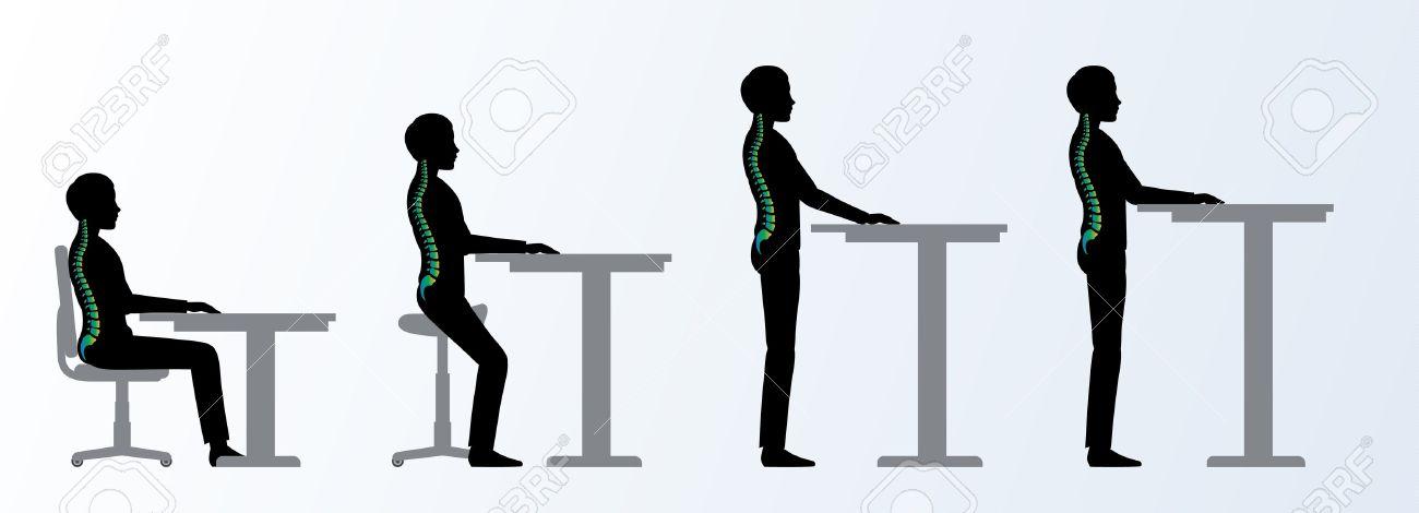 d'un hommechaise Saddle table debout une bureau et ErgonomiqueHauteur réglable assise ou pose XZuiTOPk