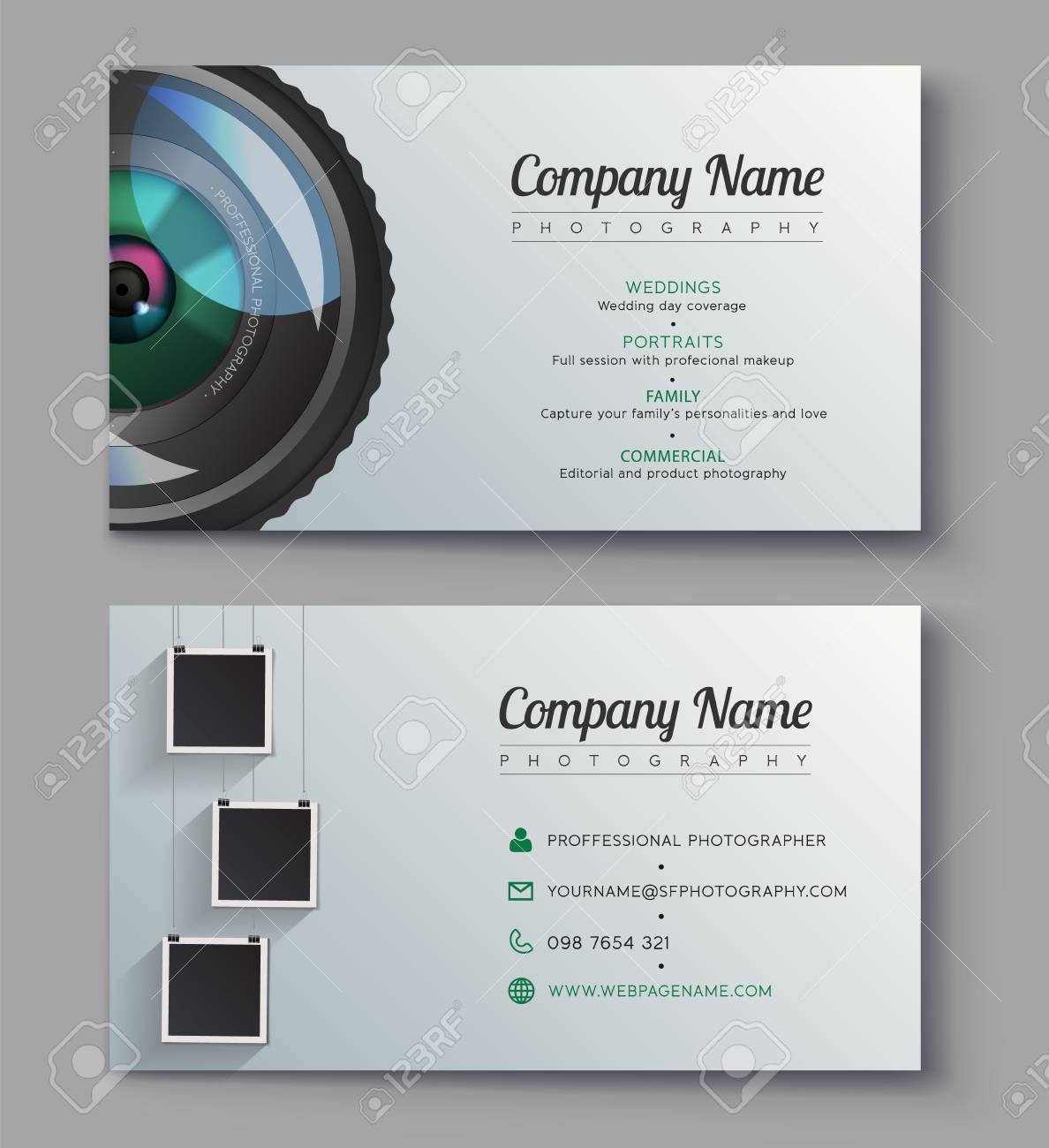 Photographer Business Card Template. Design For Photography Studio ...