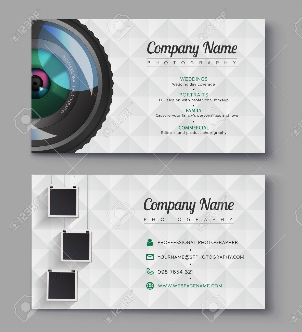 Photographer business card template design for photography studio photographer business card template design for photography studio ready presentation vector template illustrator reheart Choice Image