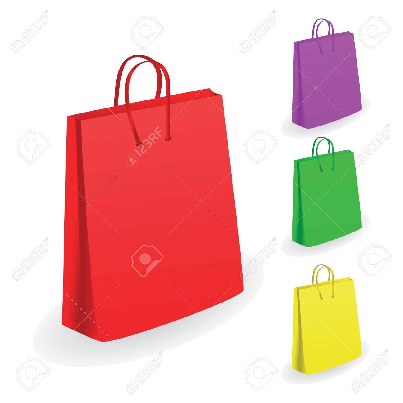 collection of shopping bags vector illustration royalty free