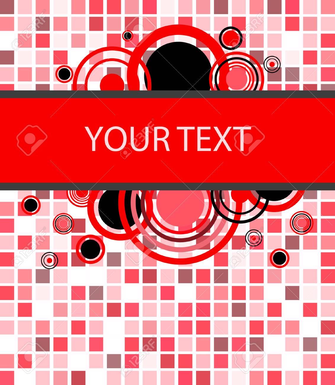 Stylish red banner. Vector illustration Stock Vector - 4656289