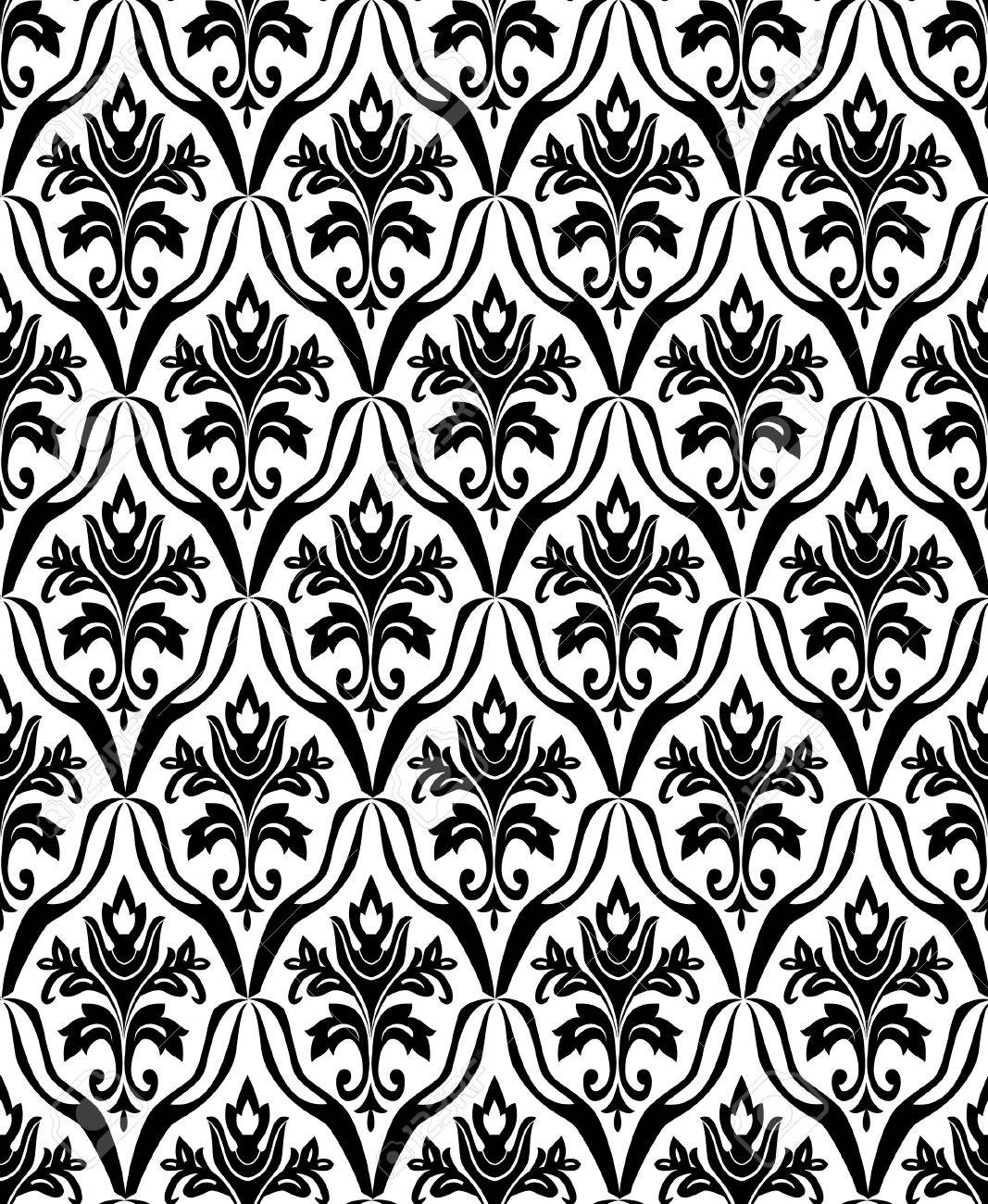 Black and white seamless pattern. Vector illustration Stock Vector - 4656295