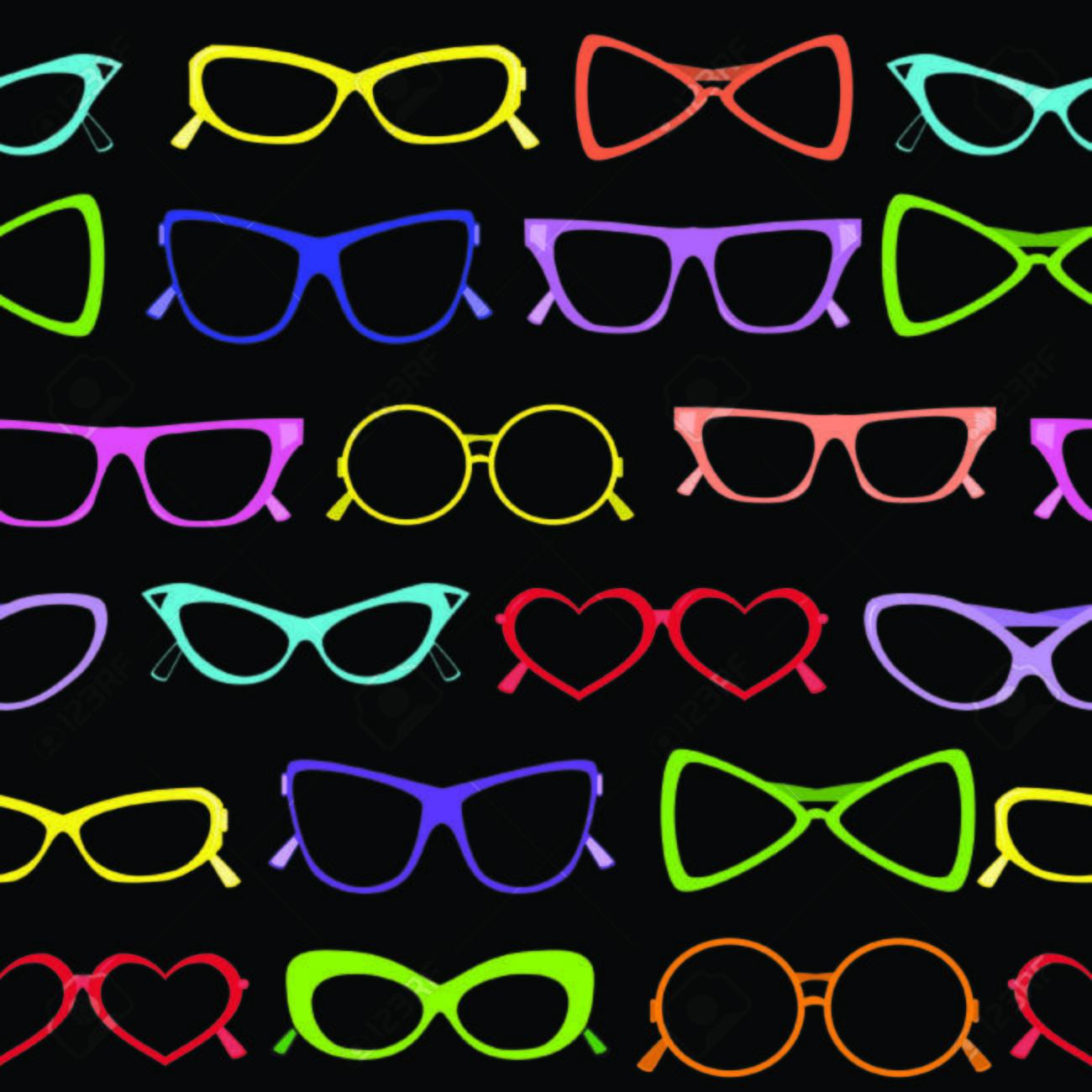 Seamless of solar glasses. Vector illustration Stock Vector - 4945885