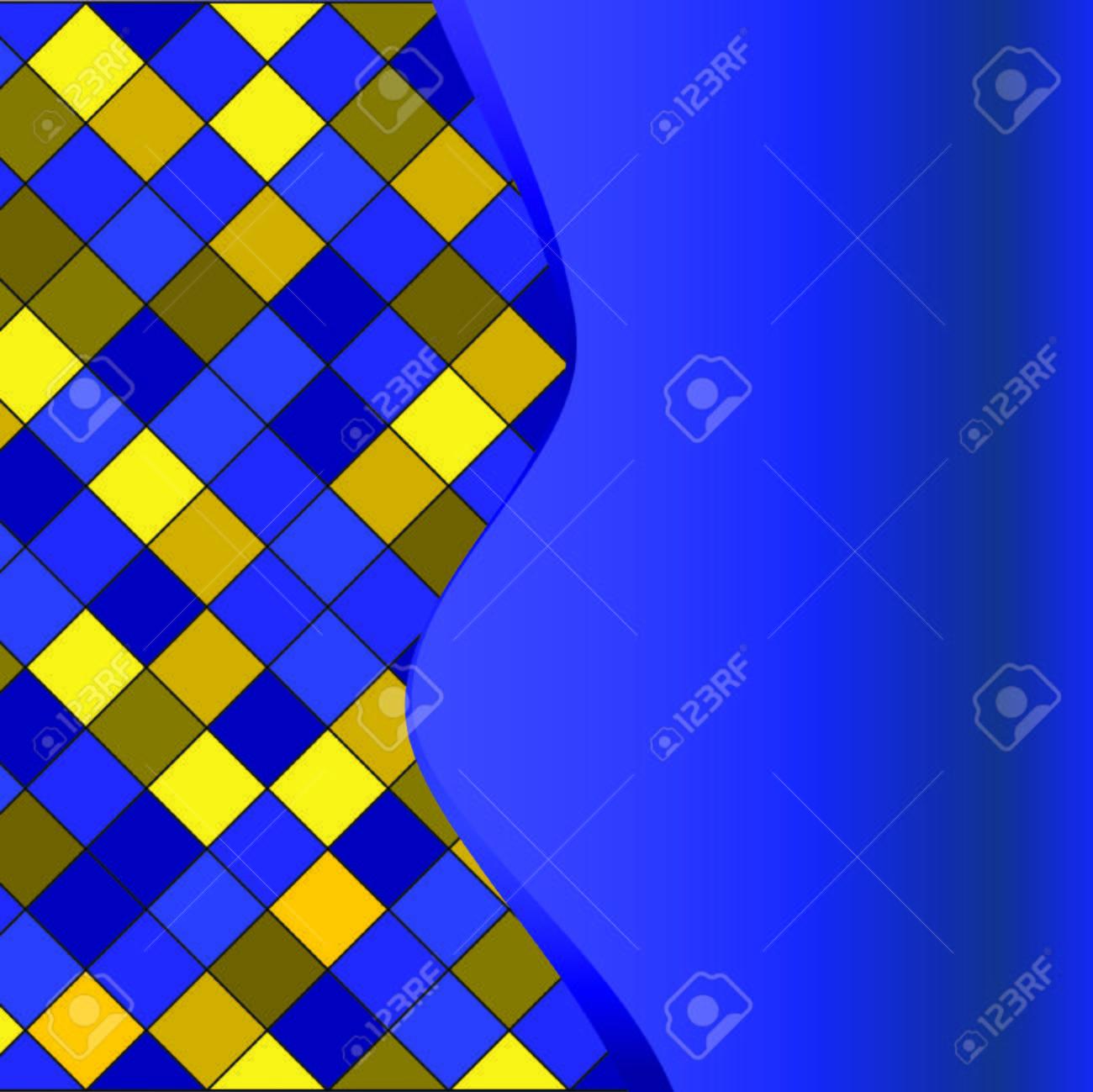 Blue geometrical pattern. Vector illustration Stock Vector - 4945884