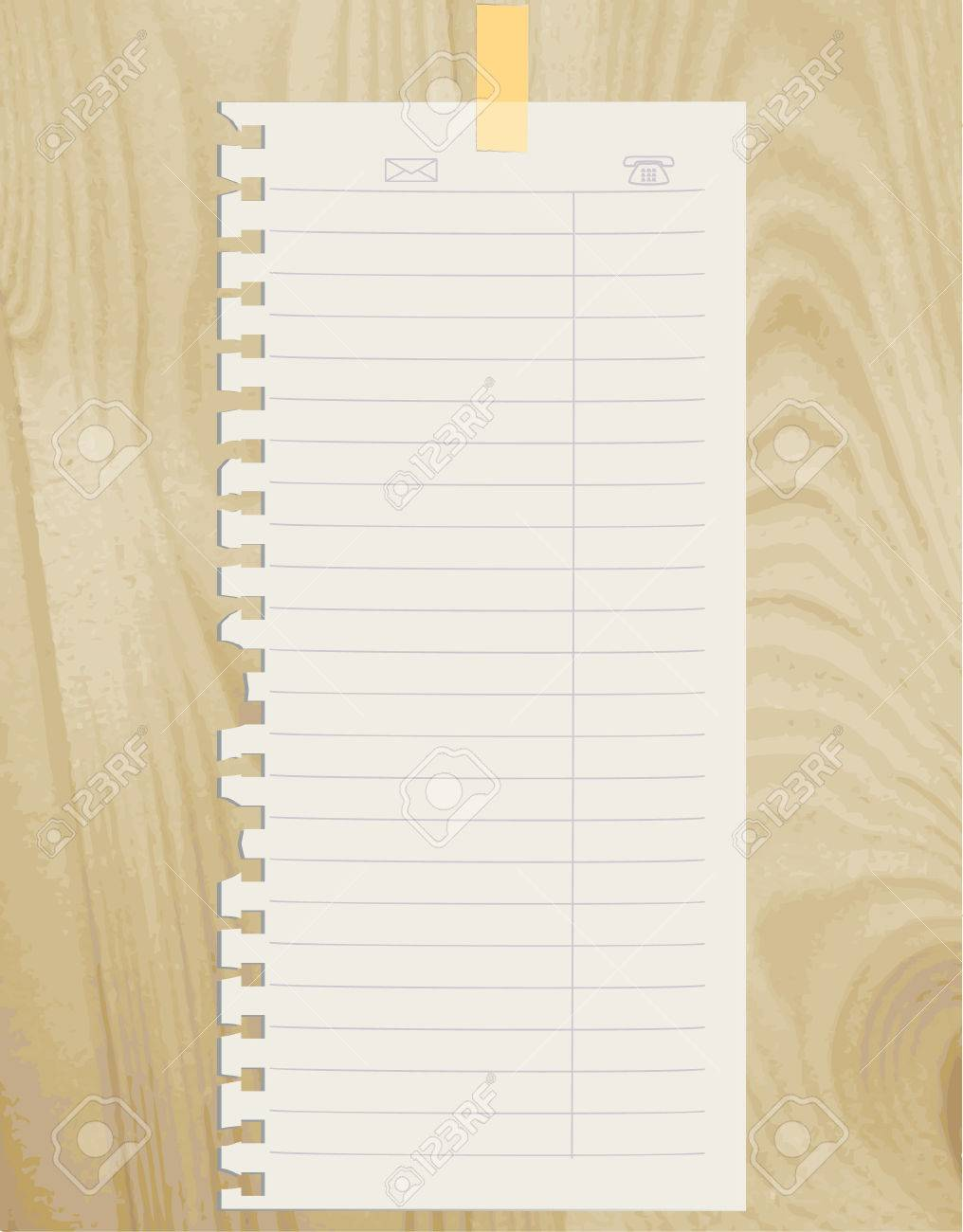 The torn off sheet of paper on wooden structure Stock Vector - 5329252