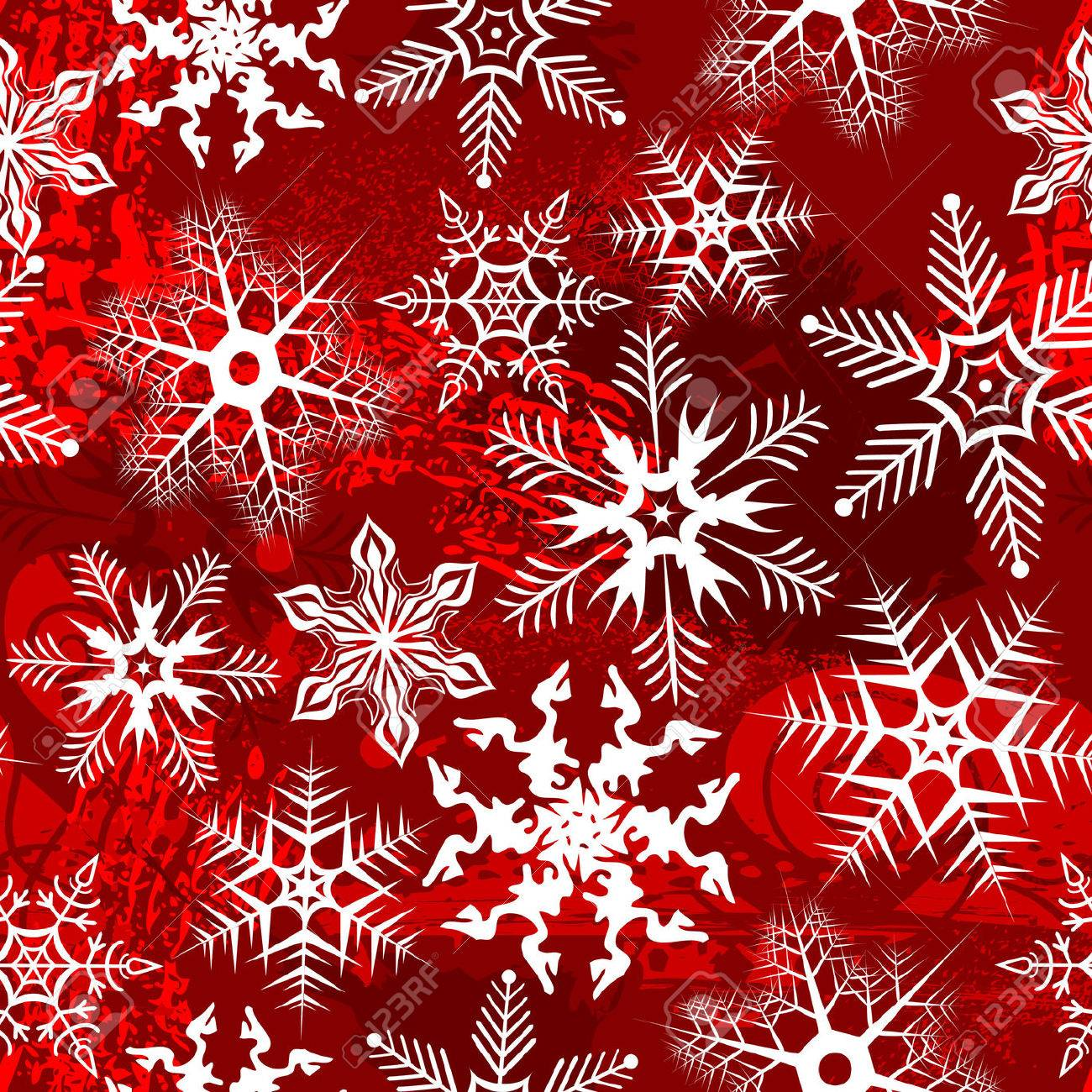 Red background with snowflakes. Vector illustration Stock Vector - 5558108