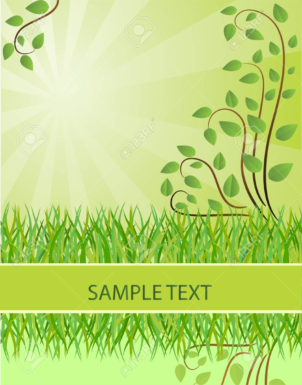 Ecological background. Vector illustration Stock Vector - 6081407