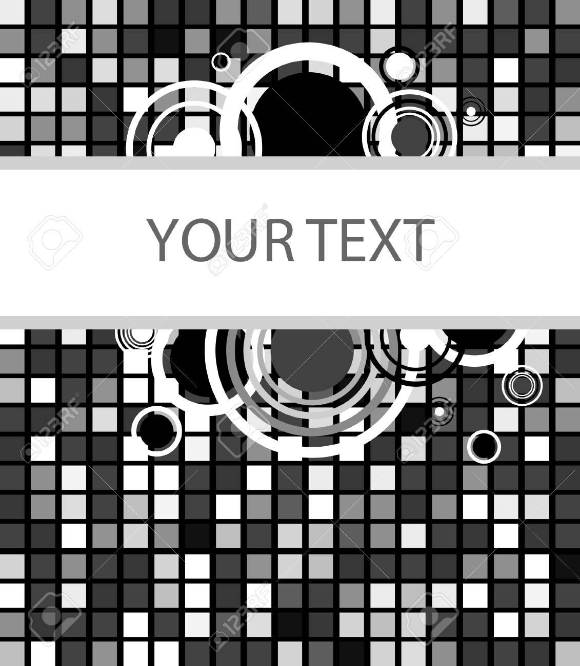 Stylish square banner. illustration Stock Vector - 6177133