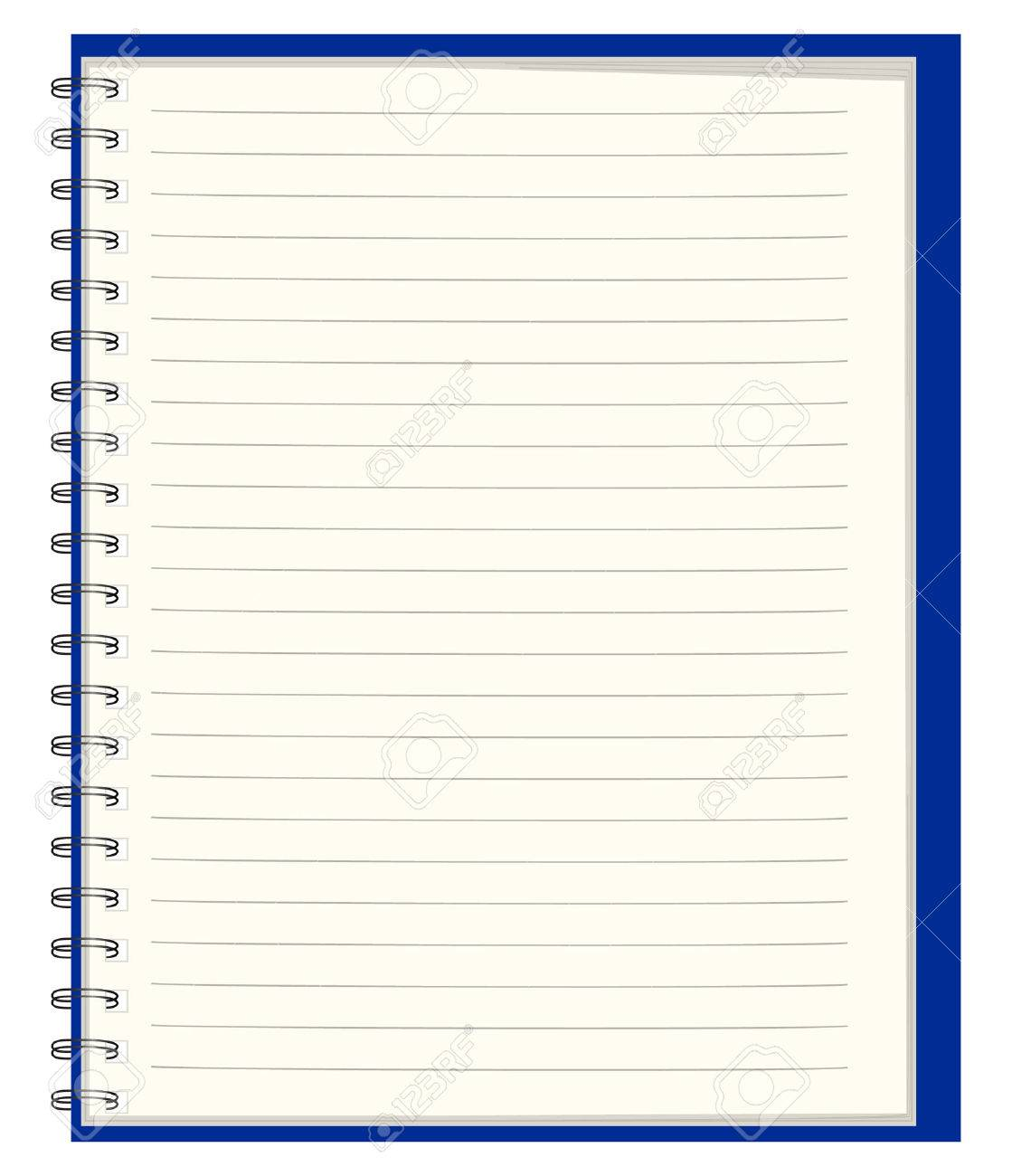 Pure notebook for records Stock Vector - 6956164