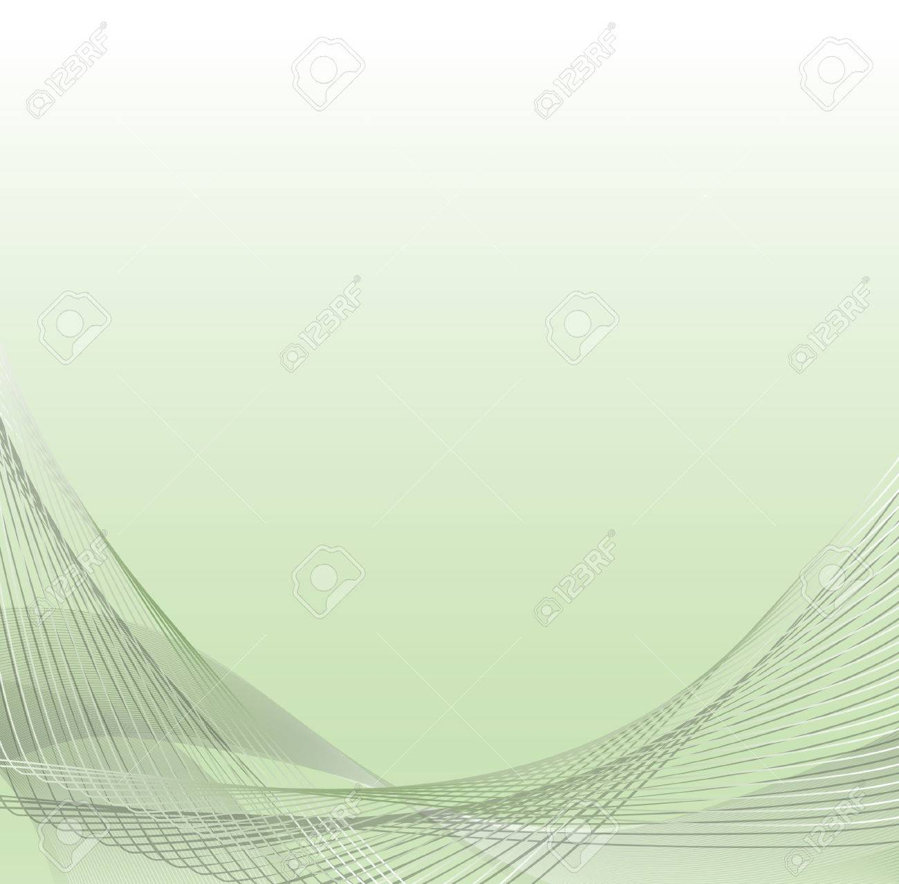 Abstract green waves - project for business - cards.  illustration Stock Vector - 8686712