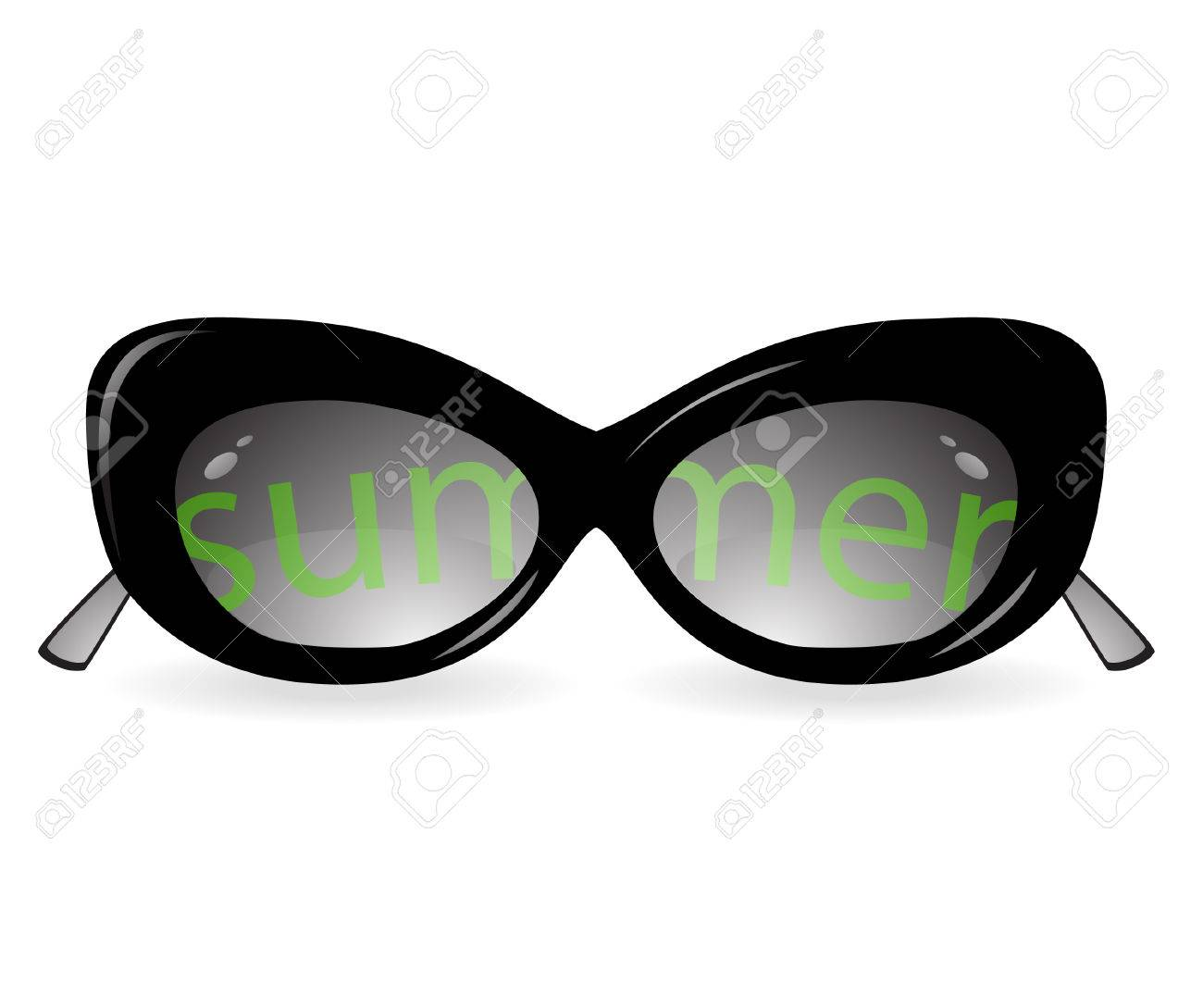 Isolated sun glasses with an inscription Stock Vector - 9029905