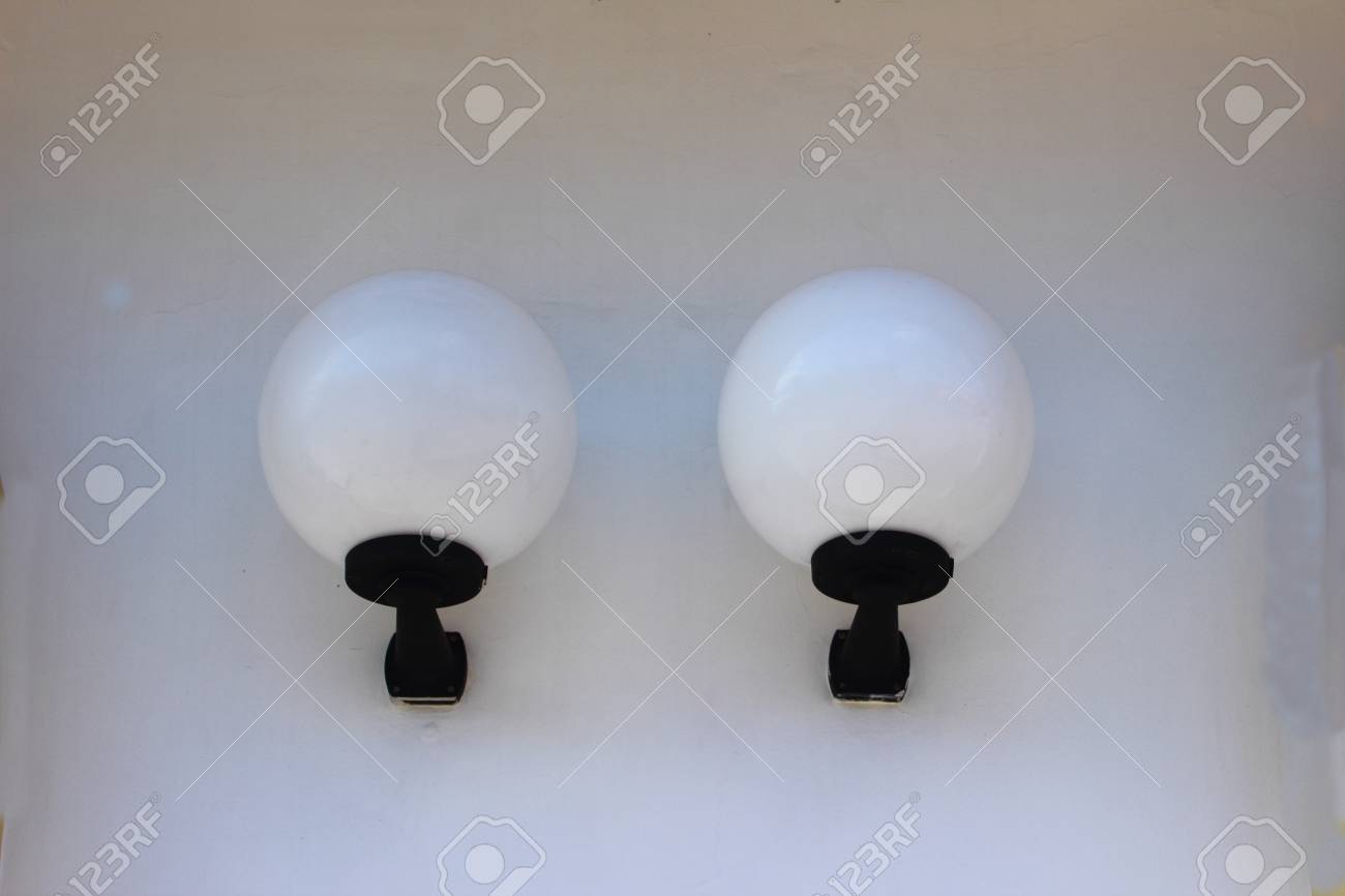 On Two Wall Light Decorative Lamp Shades With Round Stock Photo Picture And Royalty Free Image Image 27977143