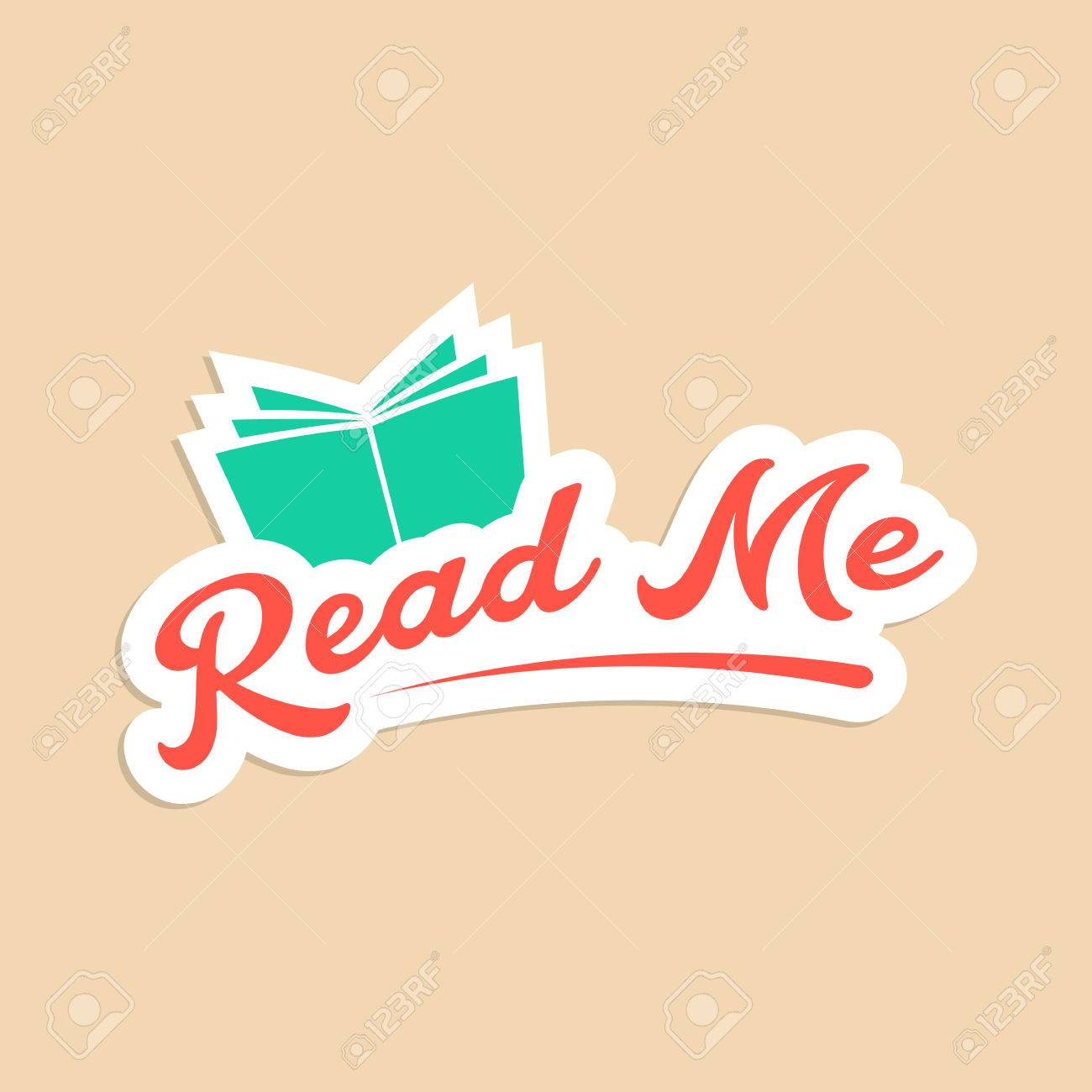 Read Me With Green Book Sticker Concept Of Online Book Store