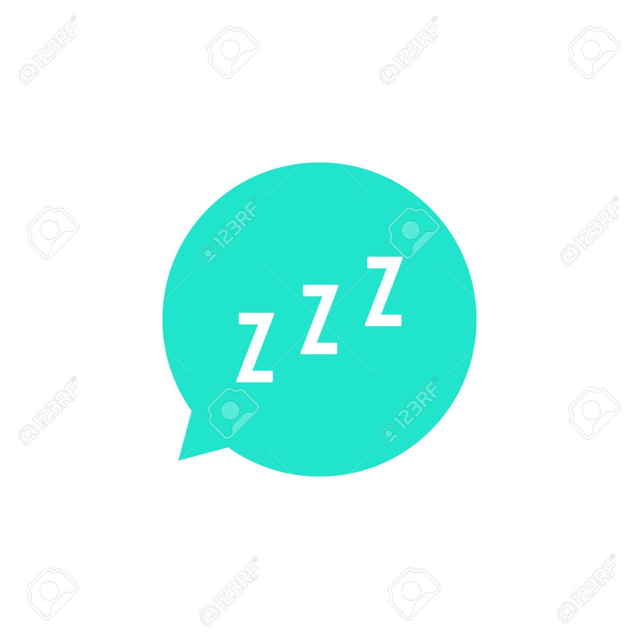 snoring sign in green speech bubble  concept of sleeping, insomnia,