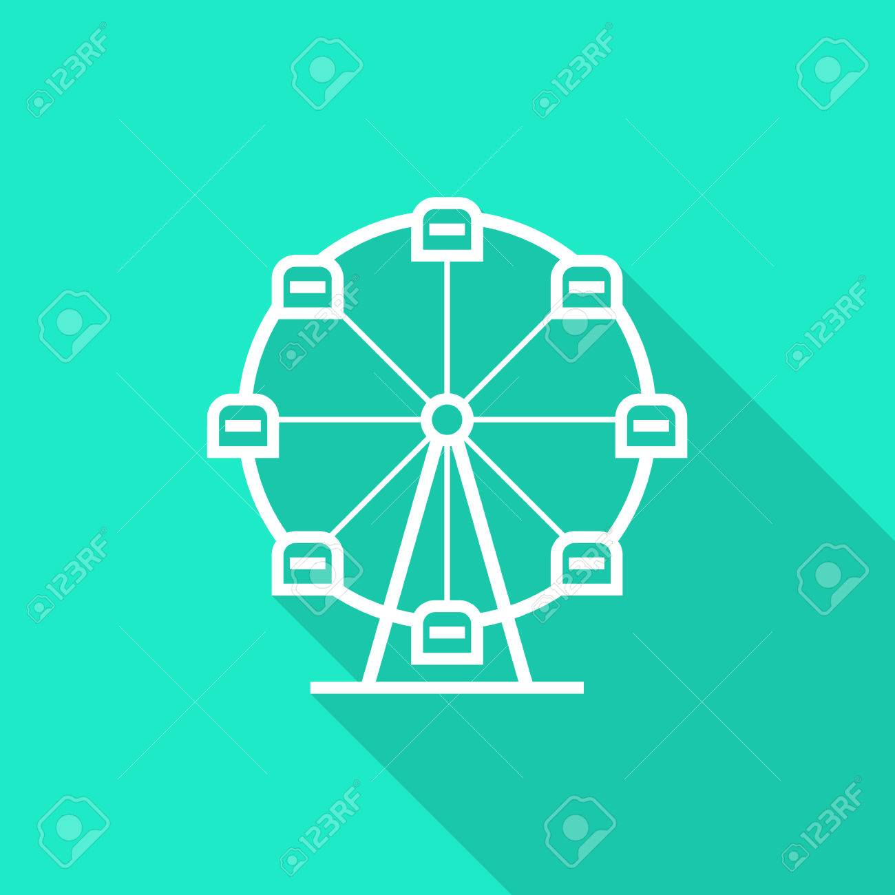 Ferris wheel icon with long shadow concept of amusement park ferris wheel icon with long shadow concept of amusement park fun fair fairground biocorpaavc