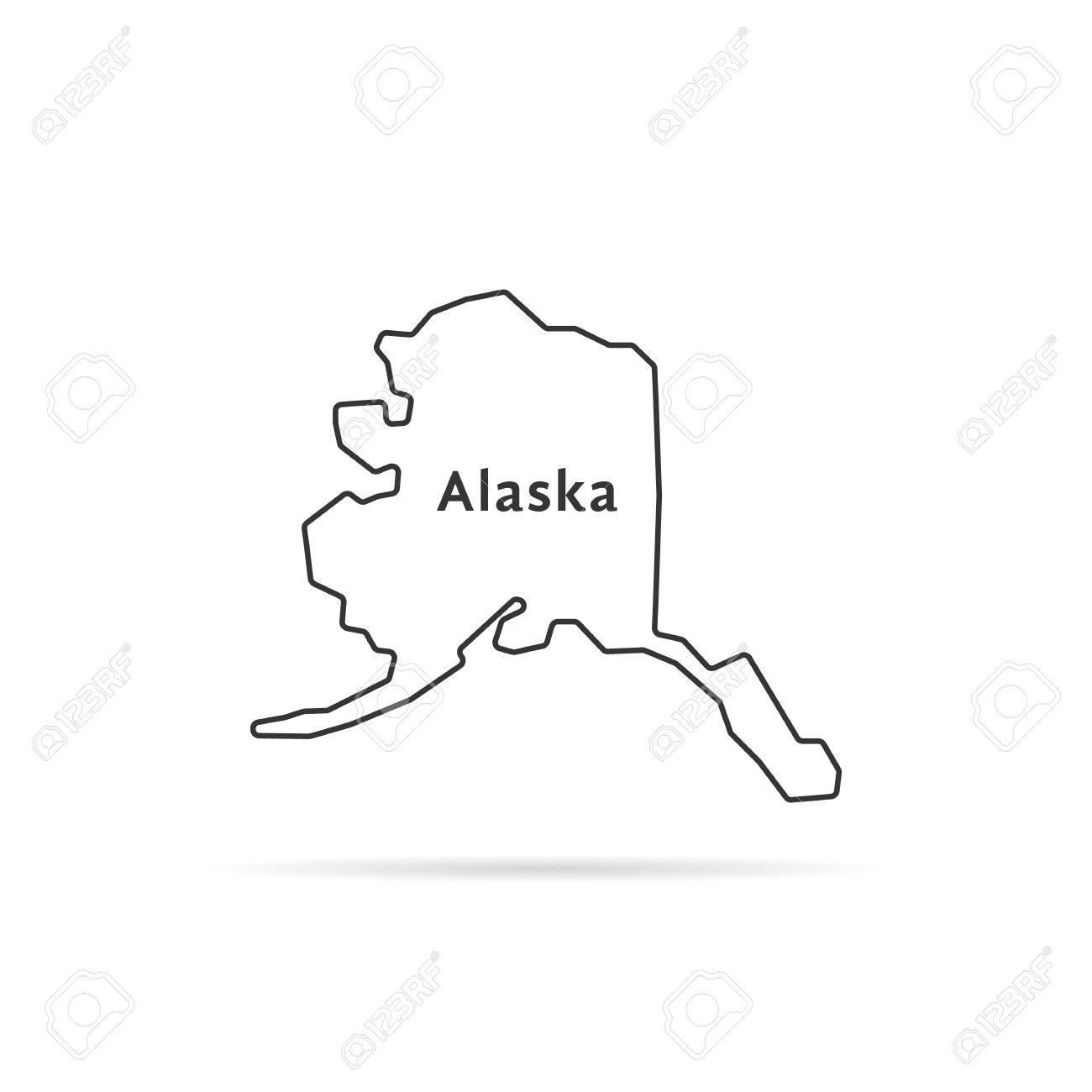影の薄いライン アラスカ州の地...