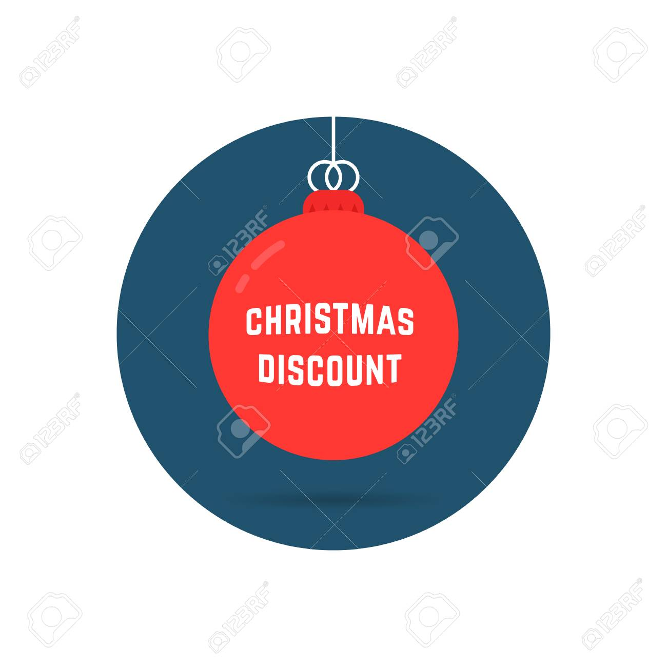 Christmas Discount On Red Tree Toy Logo Royalty Free Cliparts ...