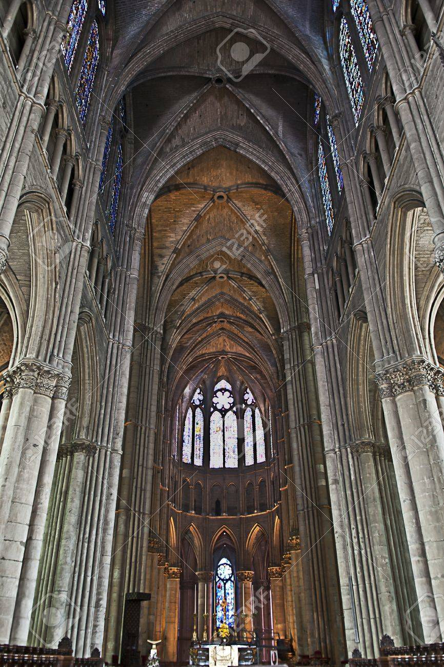 Inside of the cathedral of reims in the champagne region in france inside of the cathedral of reims in the champagne region in france were built where publicscrutiny Image collections