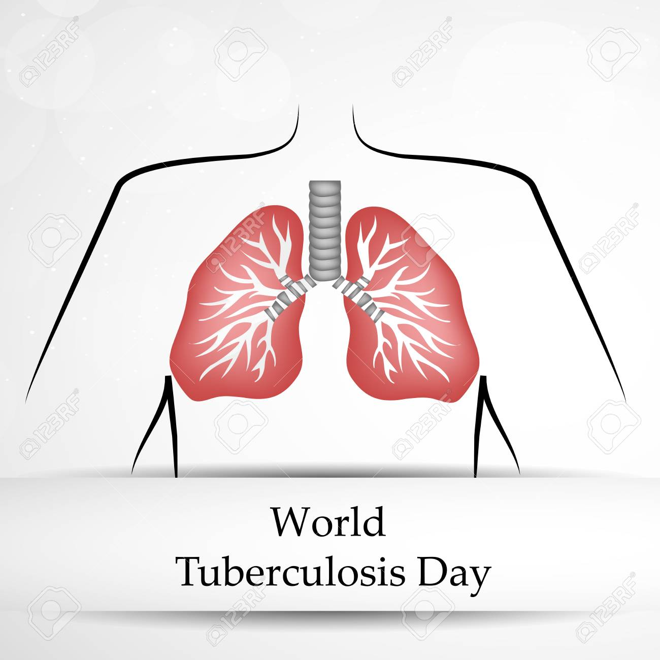Illustration Of Background For Tuberculosis Day Royalty Free