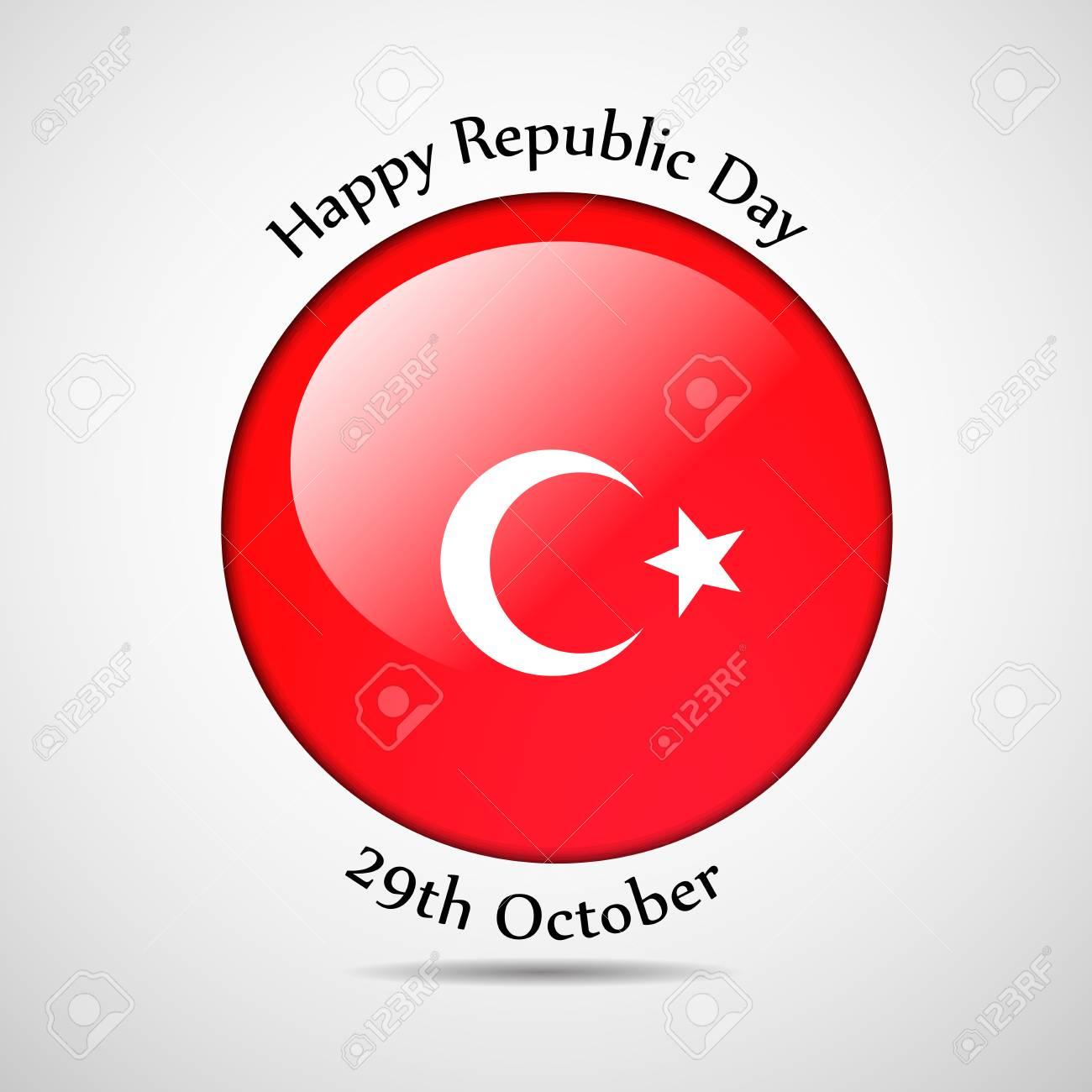 illustration of elements of turkey republic day ロイヤリティフリー